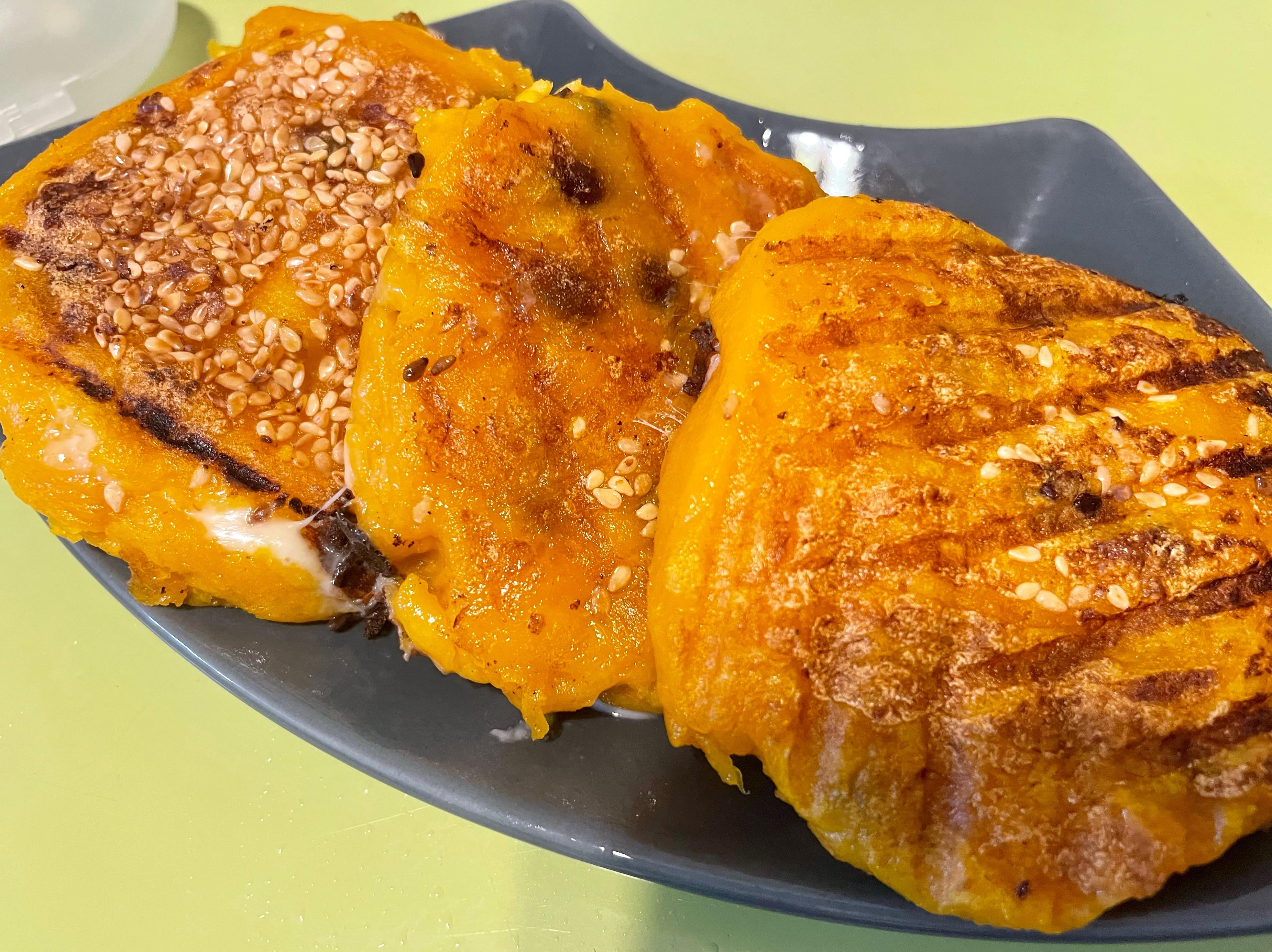 南瓜紅豆煎餅