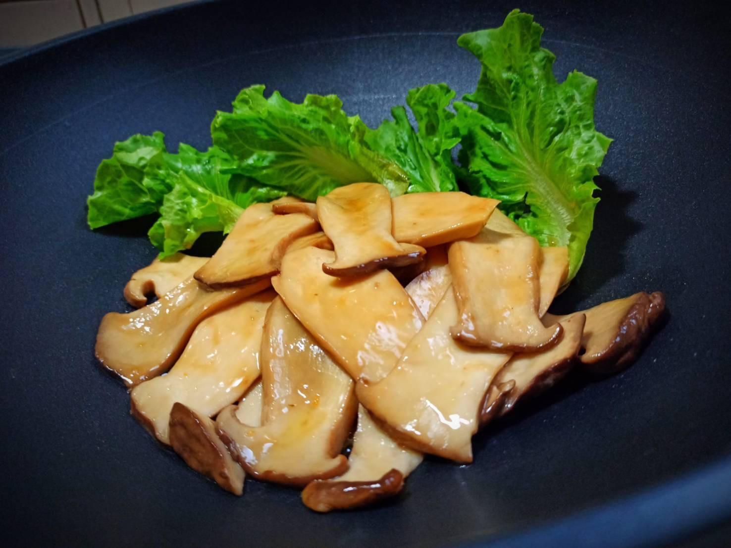 醬燒杏鮑菇(素鮑魚)簡單煮懶人料理快素食