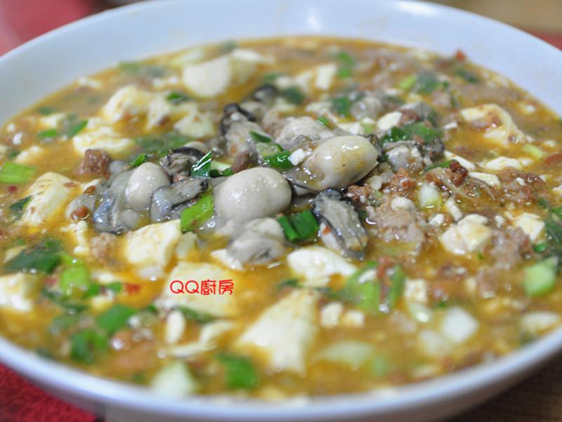 麻婆豆腐燴鮮蚵