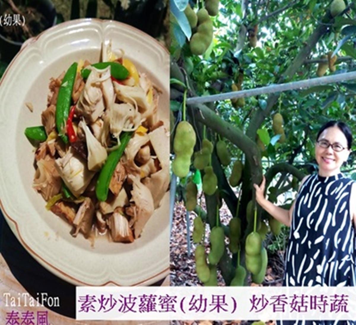 蘿拉老師上菜之素炒波蘿蜜炒香菇
