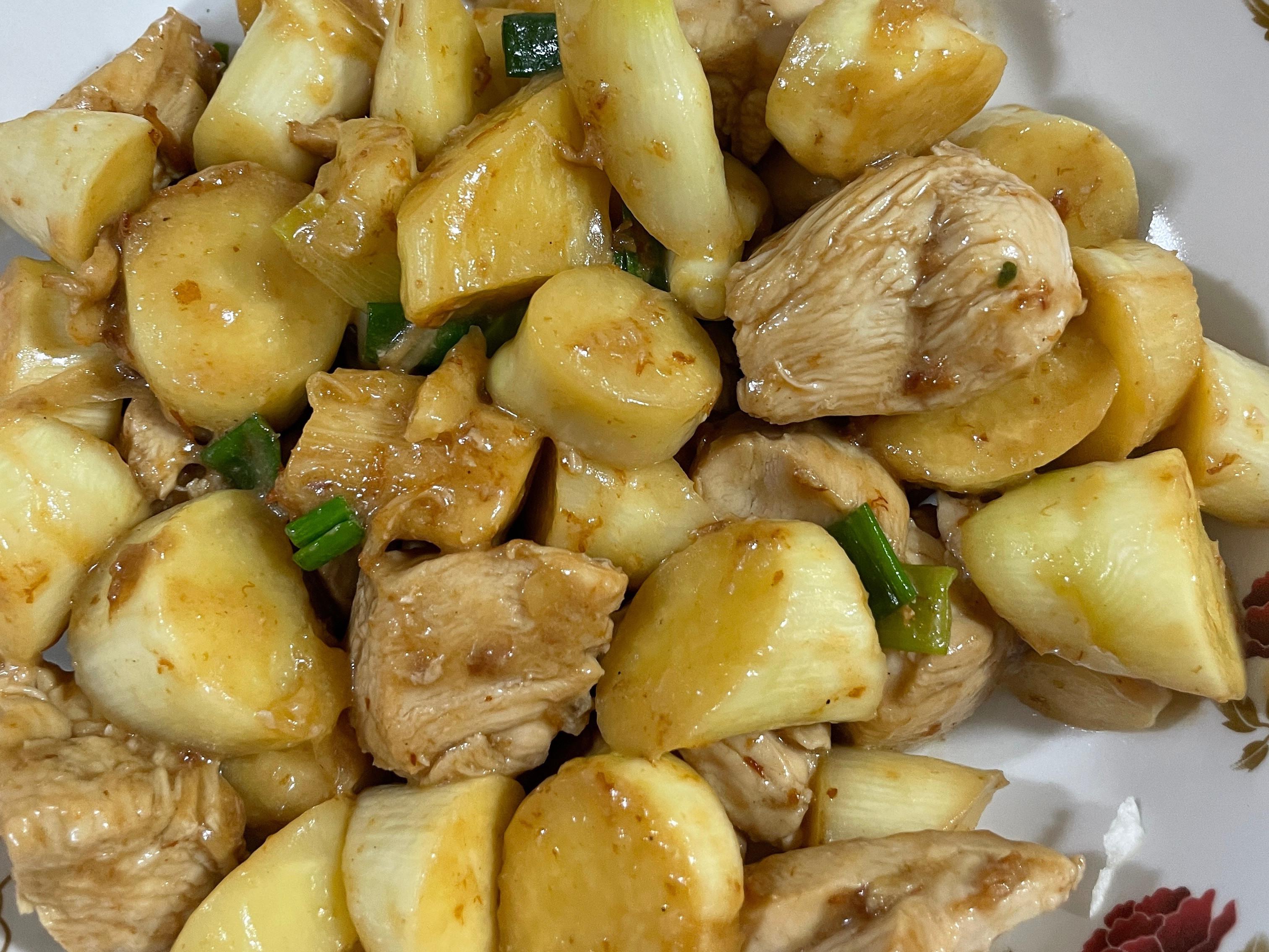 皎白筍燴雞胸肉