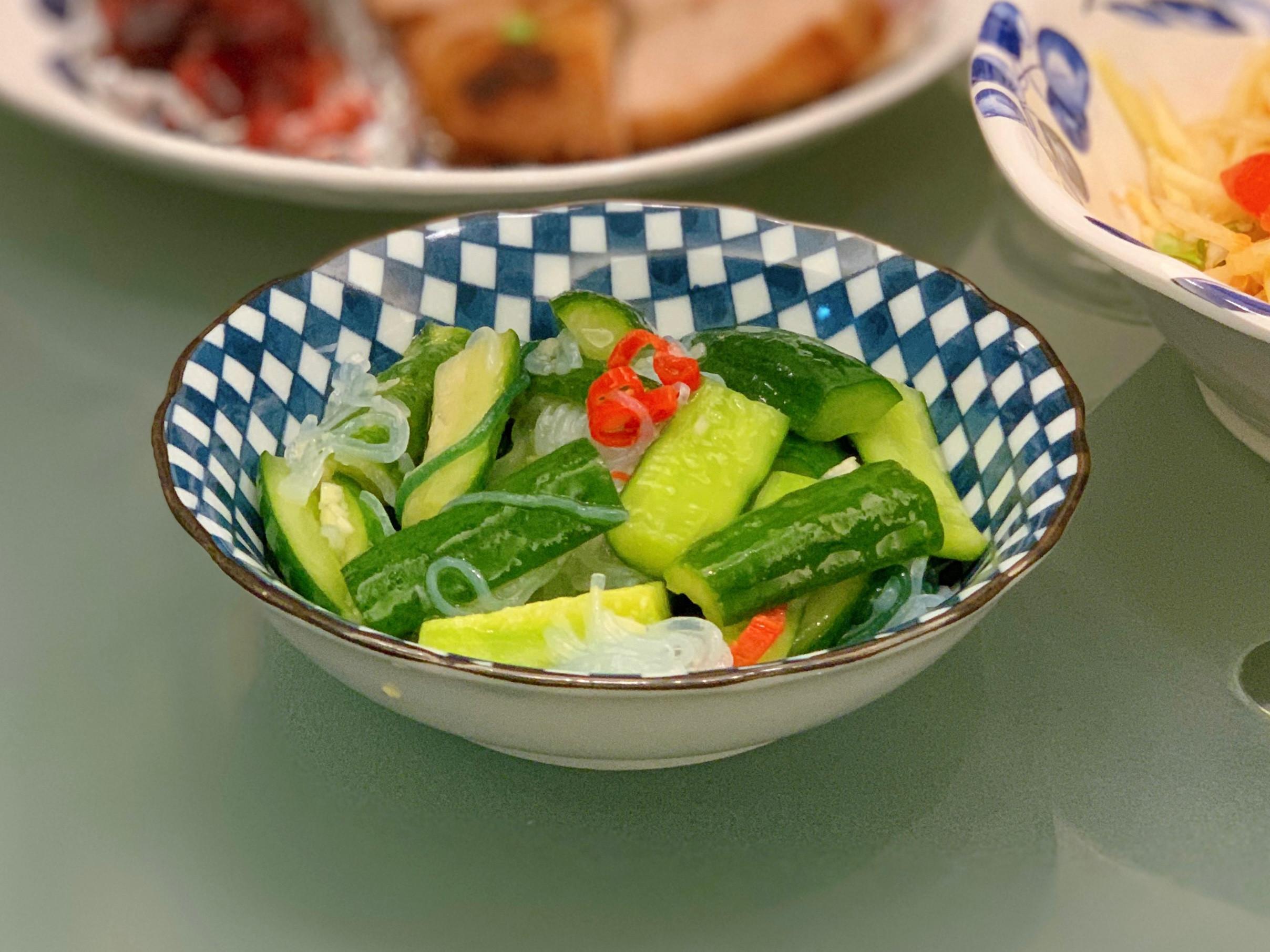 涼拌蒟蒻絲小黃瓜