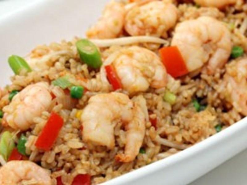 減重食譜5-蒜香大蝦炒飯