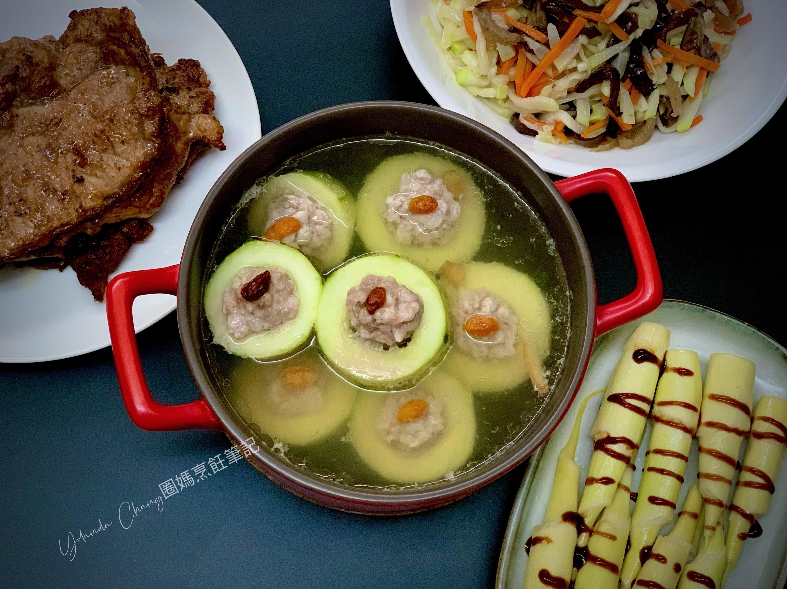刺瓜鑲肉(大黃瓜鑲肉) 減醣電鍋料理