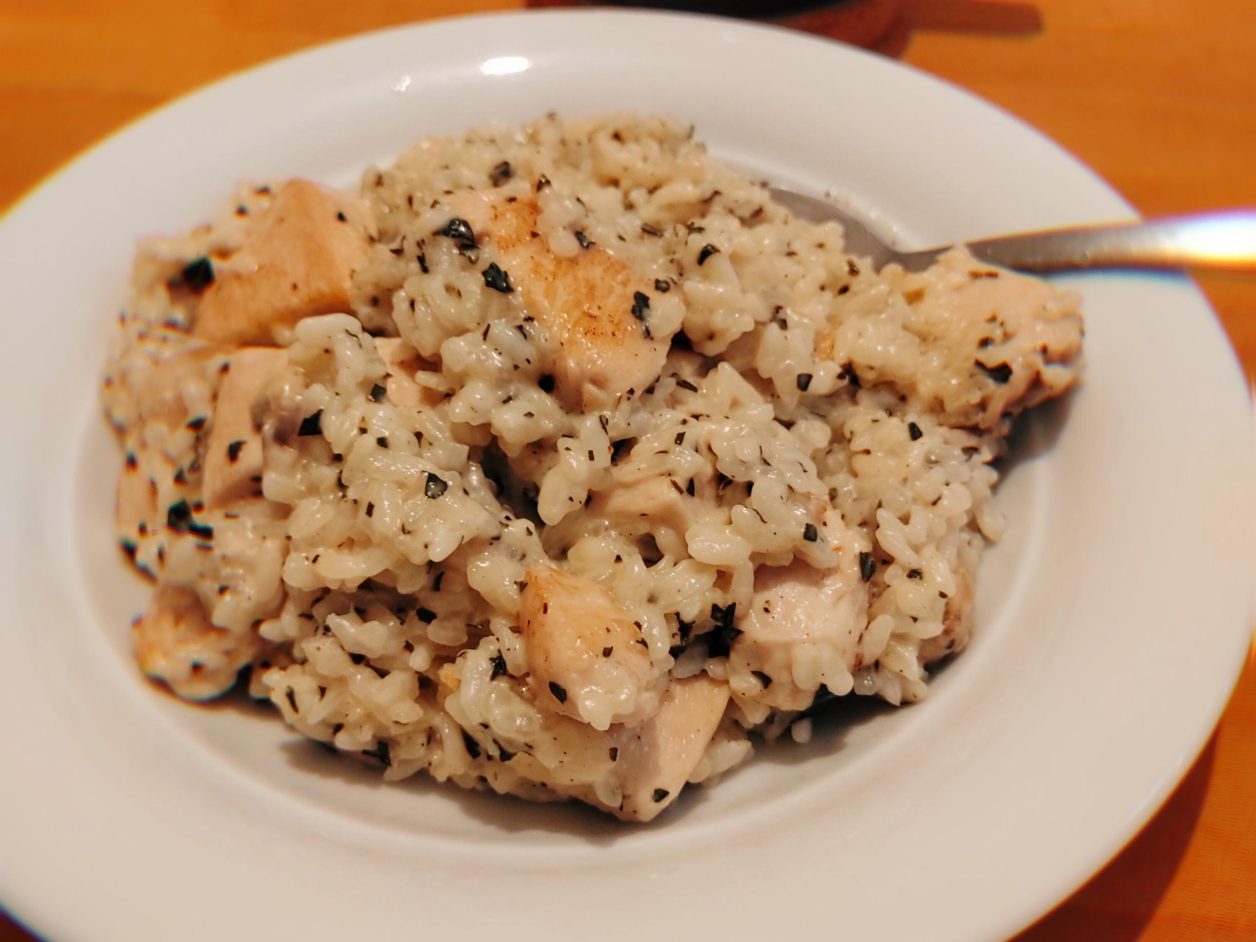 超簡單- 雞肉磨菇燉飯
