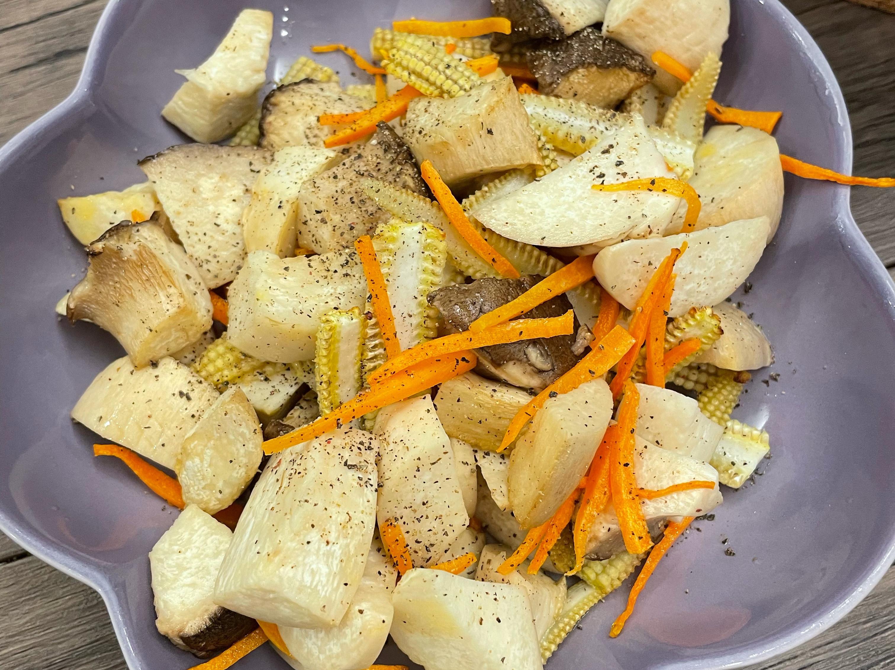 氣炸杏鮑菇蔬菜