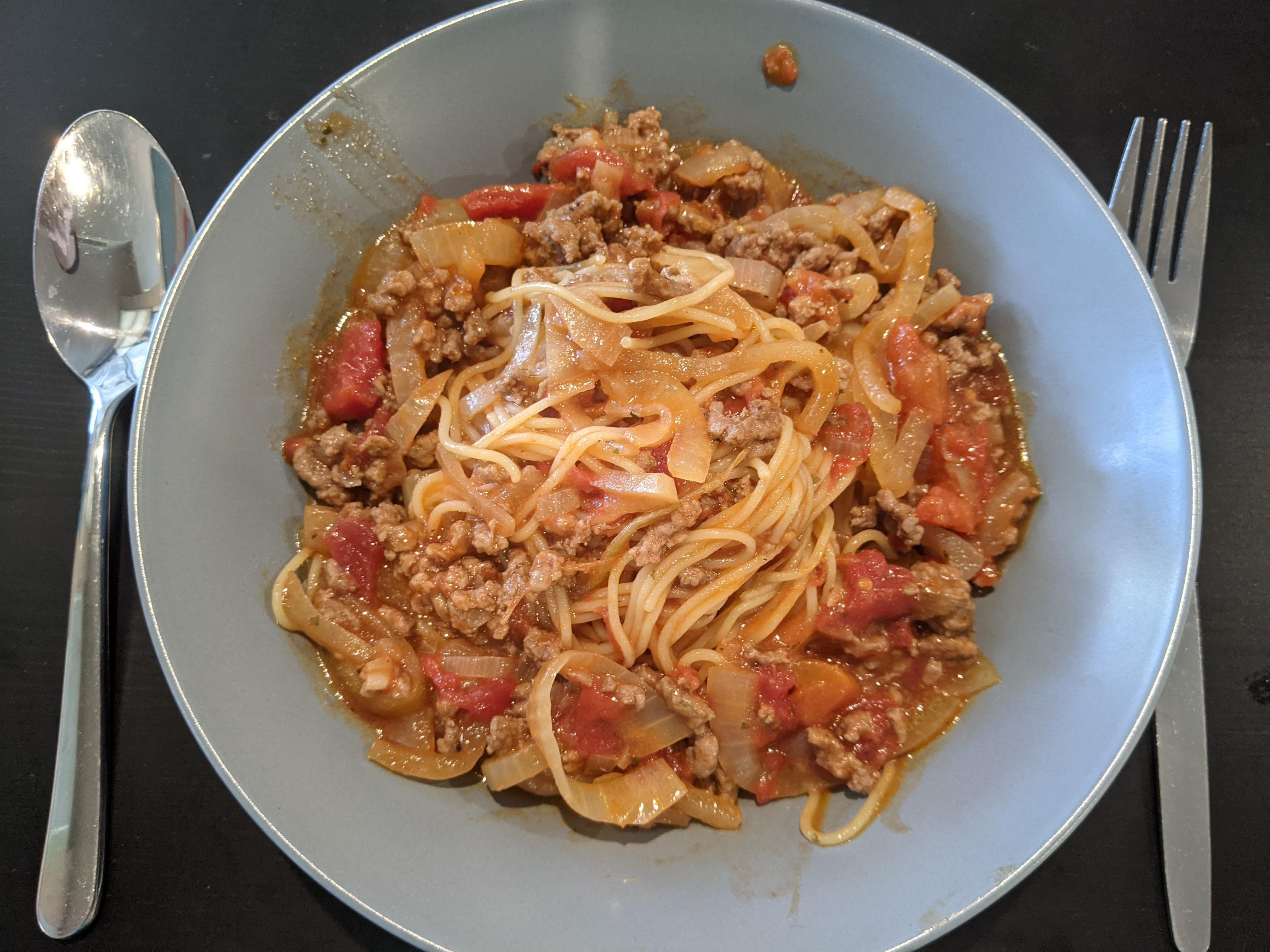 [一鍋到底]番茄肉醬義大利麵
