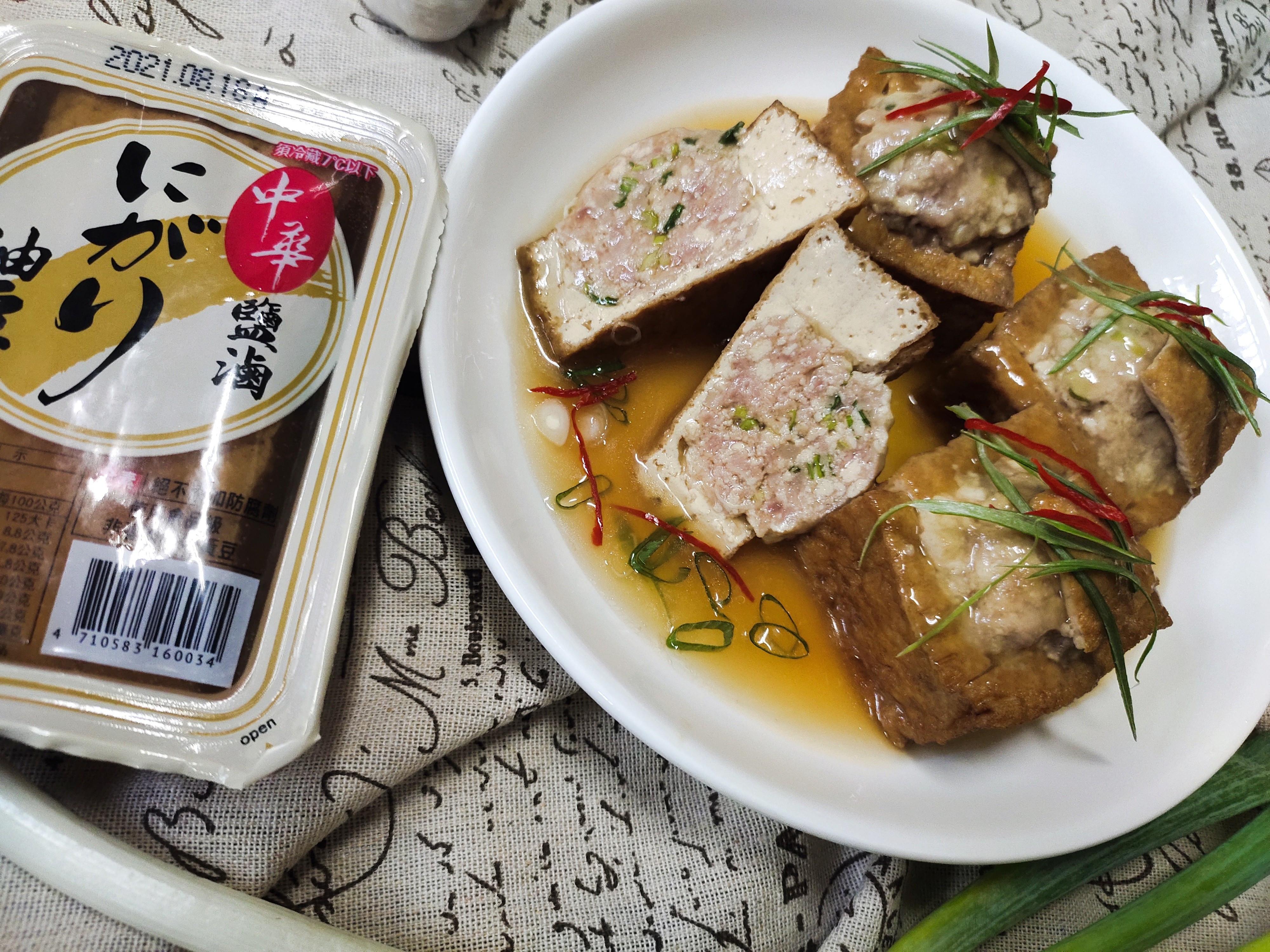 鹽滷油豆腐饟肉