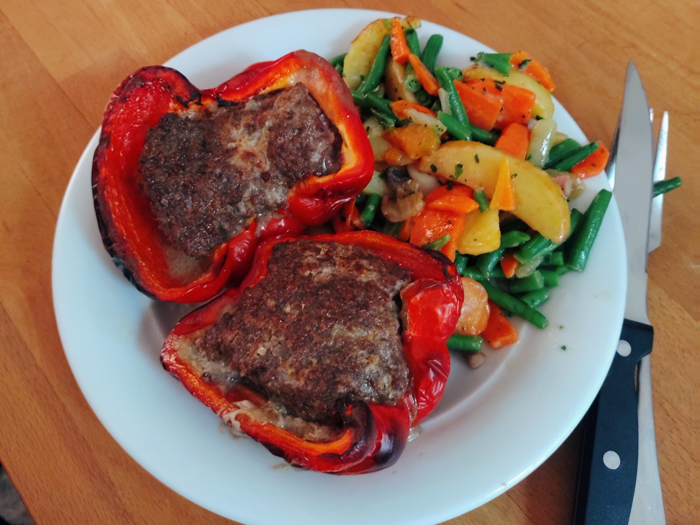 彩椒鑲肉(氣炸鍋版)