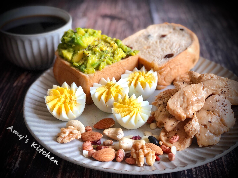 酪梨醬雞柳 (簡單早餐)