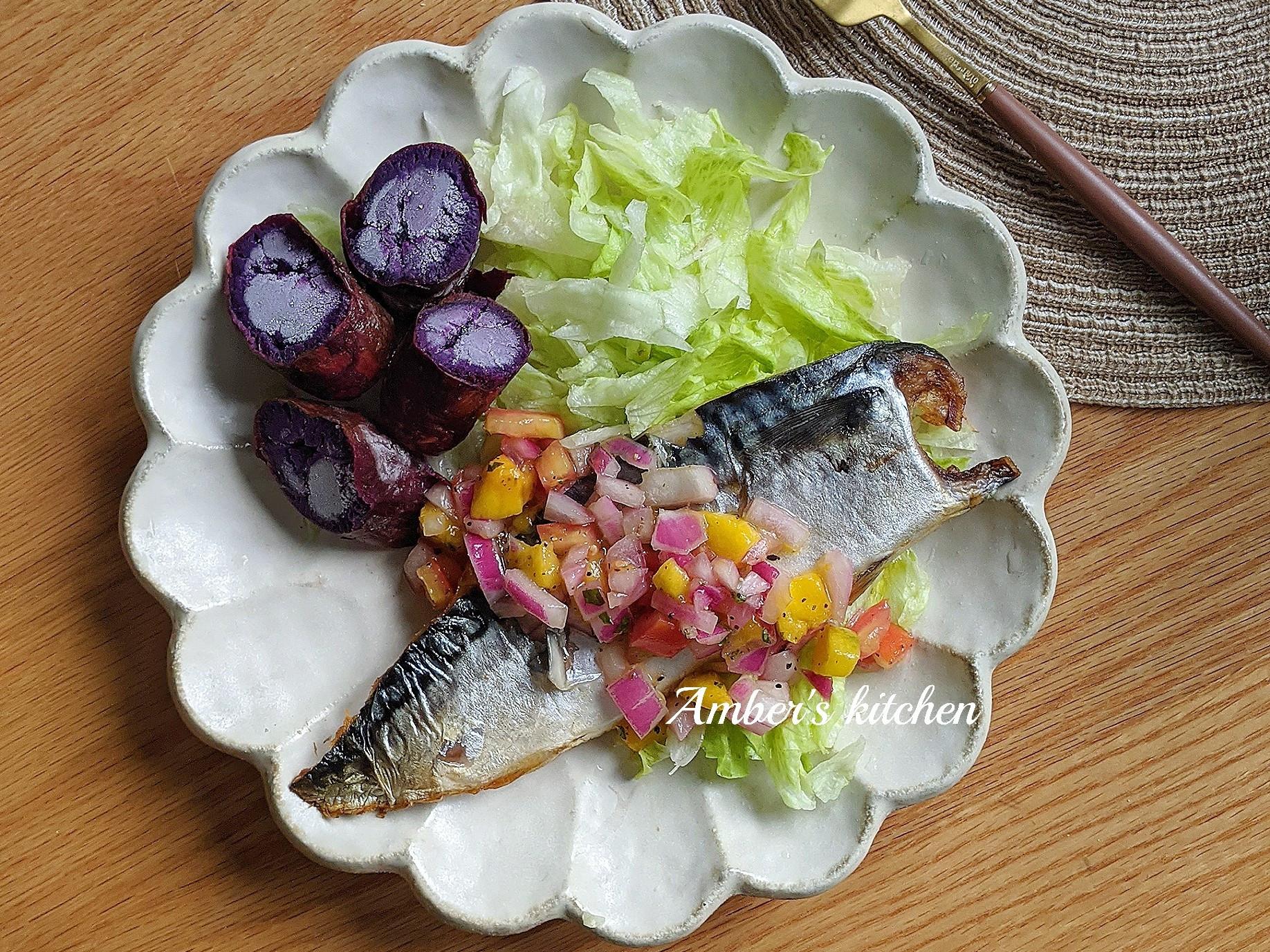 減醣鯖魚餐
