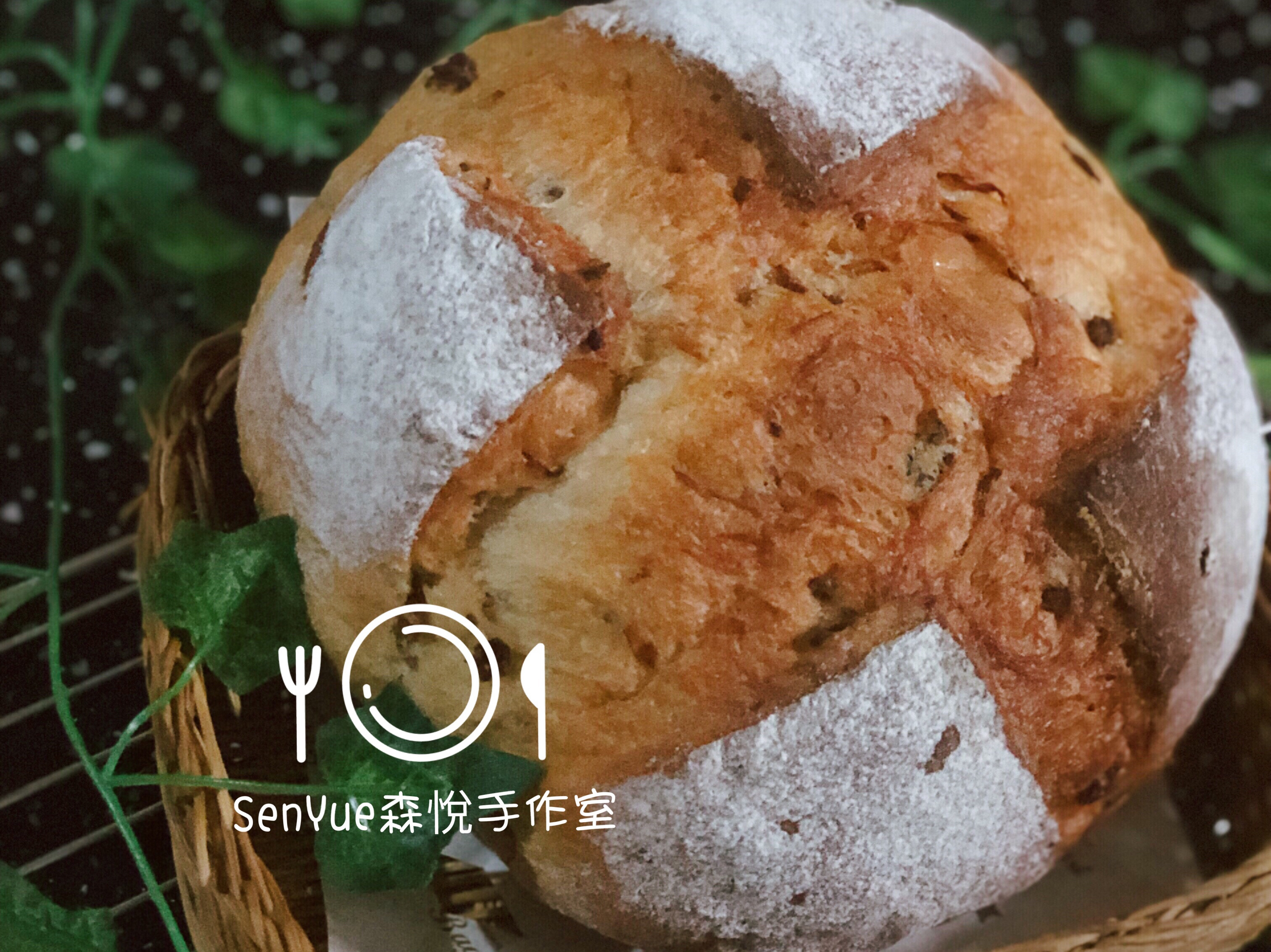桂圓蔓越莓鄉村麵包(中種法)