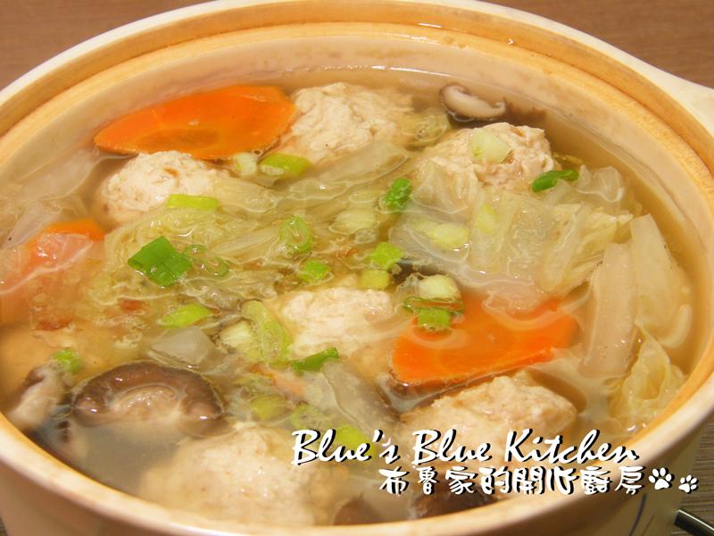 雞肉丸子蔬菜鍋
