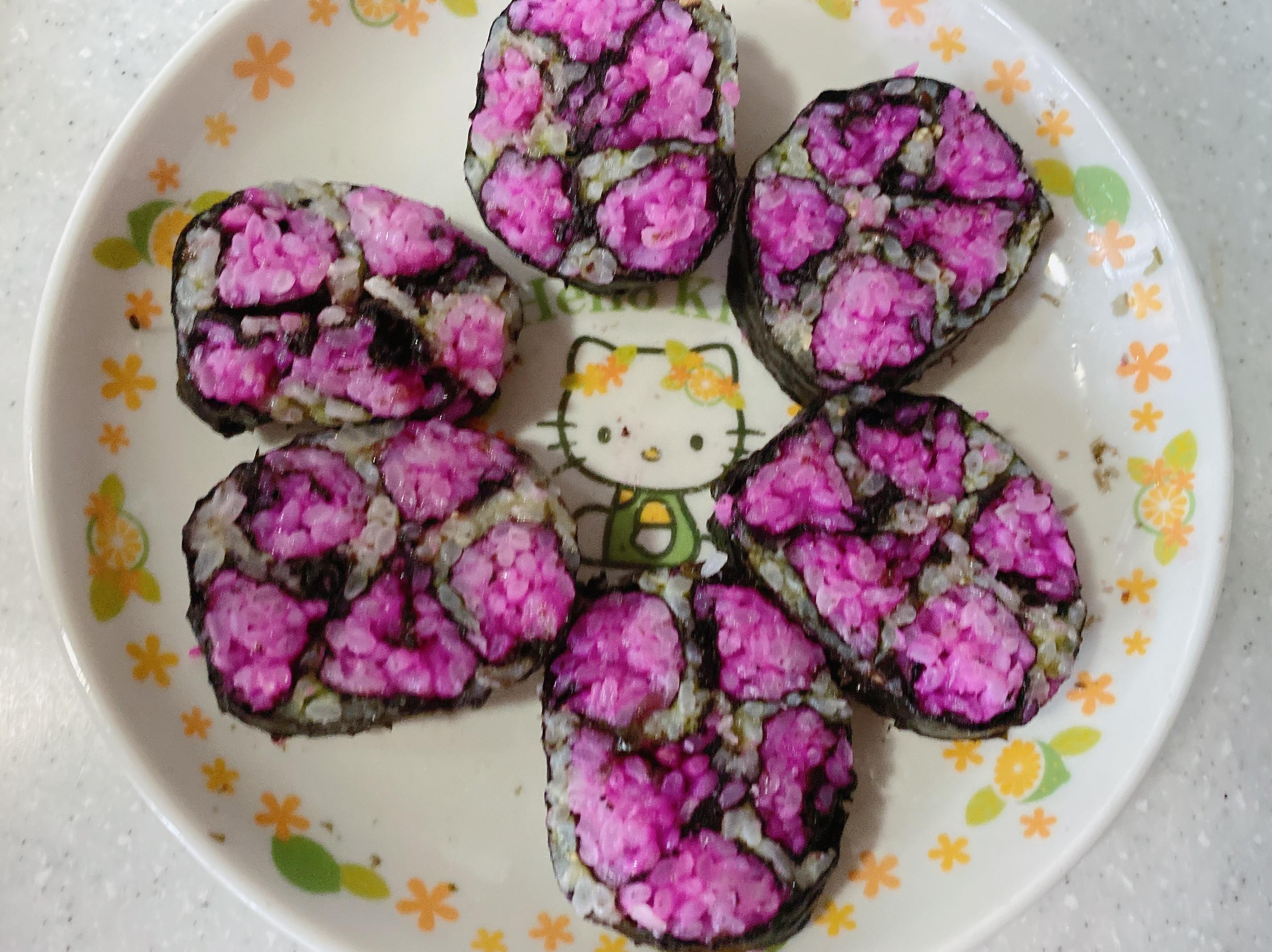 天然雙色壽司(大寶寶也可以吃喔)