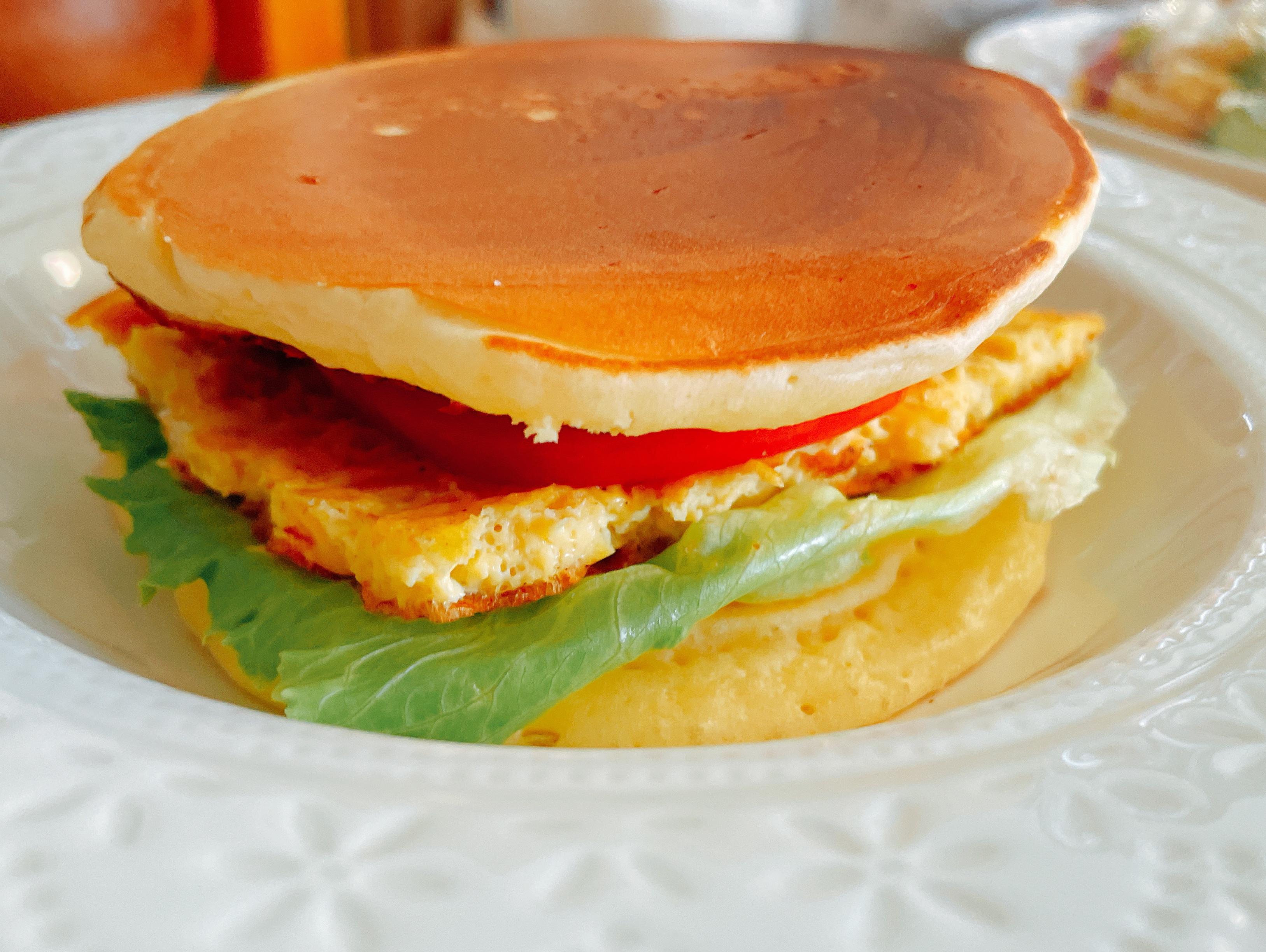 培根玉米蛋鬆餅堡