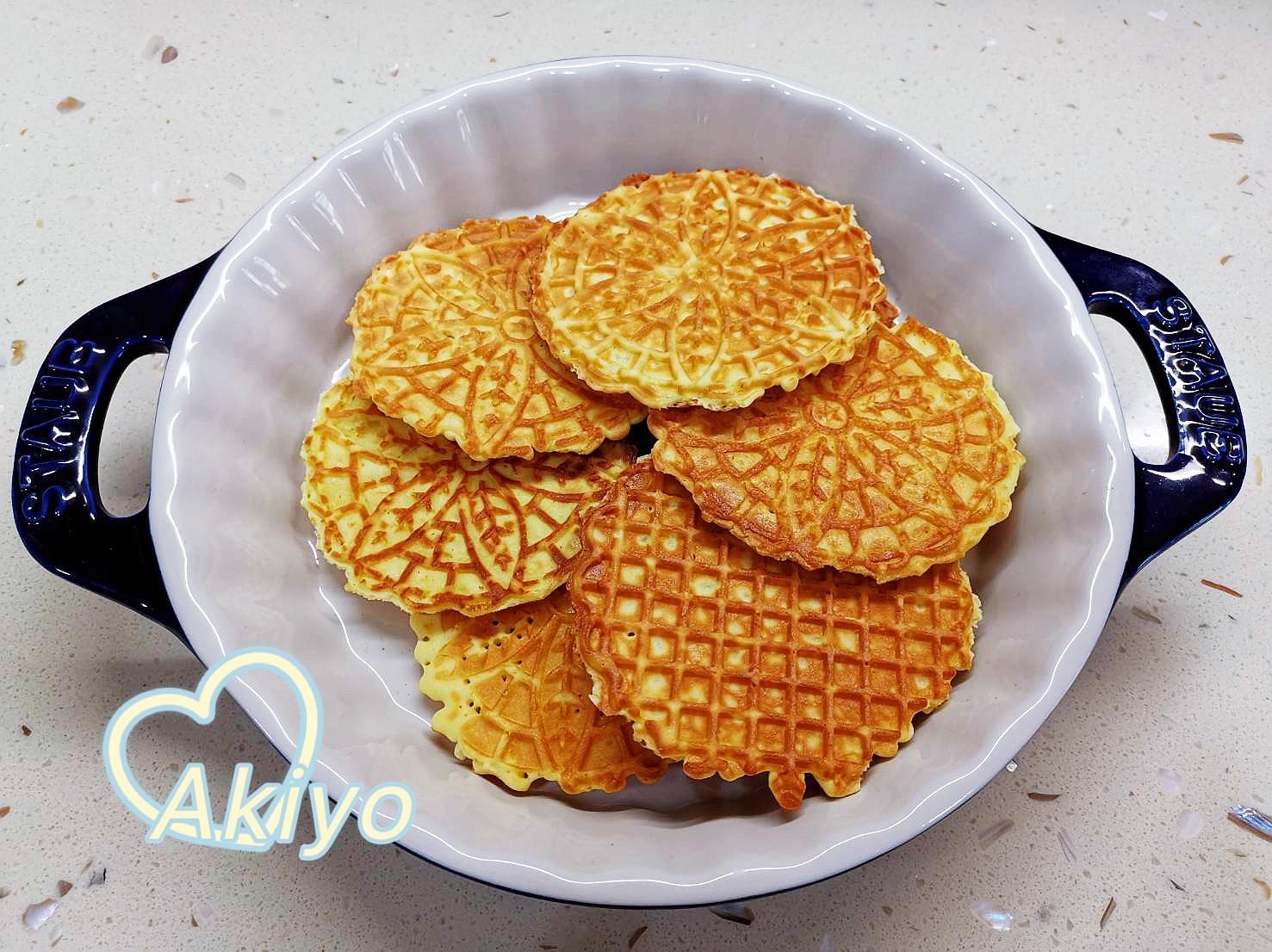 小V鬆餅機食譜 - 法式蕾絲餅