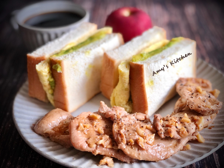 早午餐-酪梨醬厚蛋豬排三明治