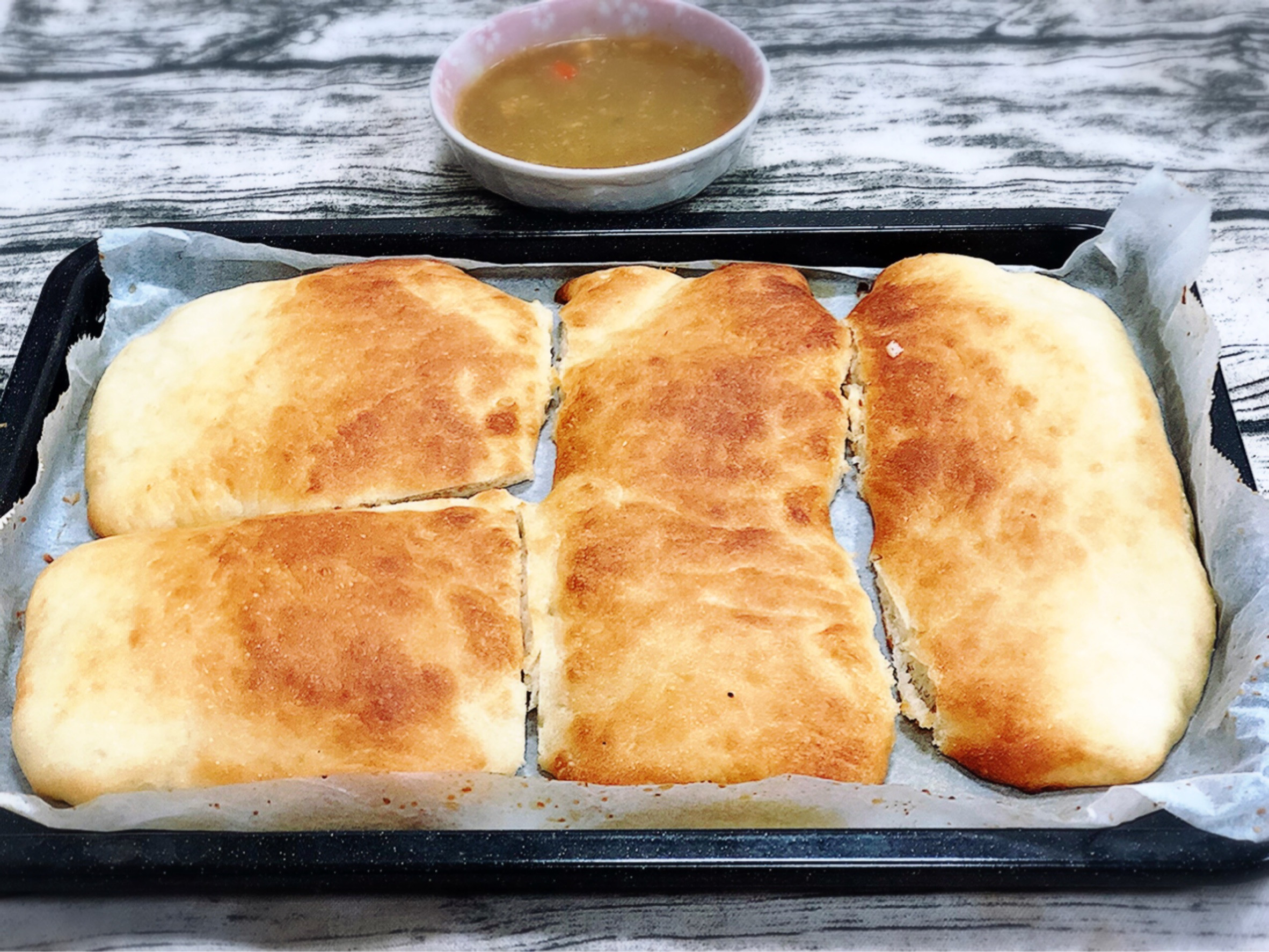 烤餅佐咖哩醬(水波爐料理)