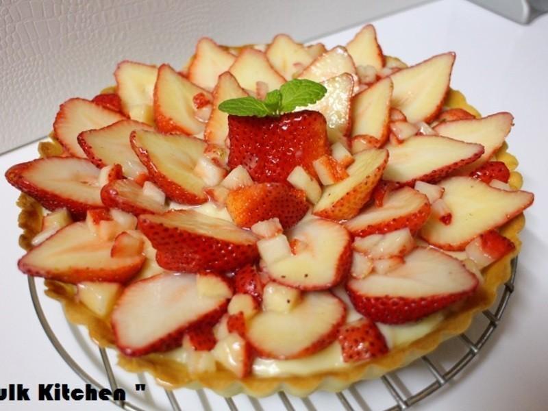 卡士達草莓派