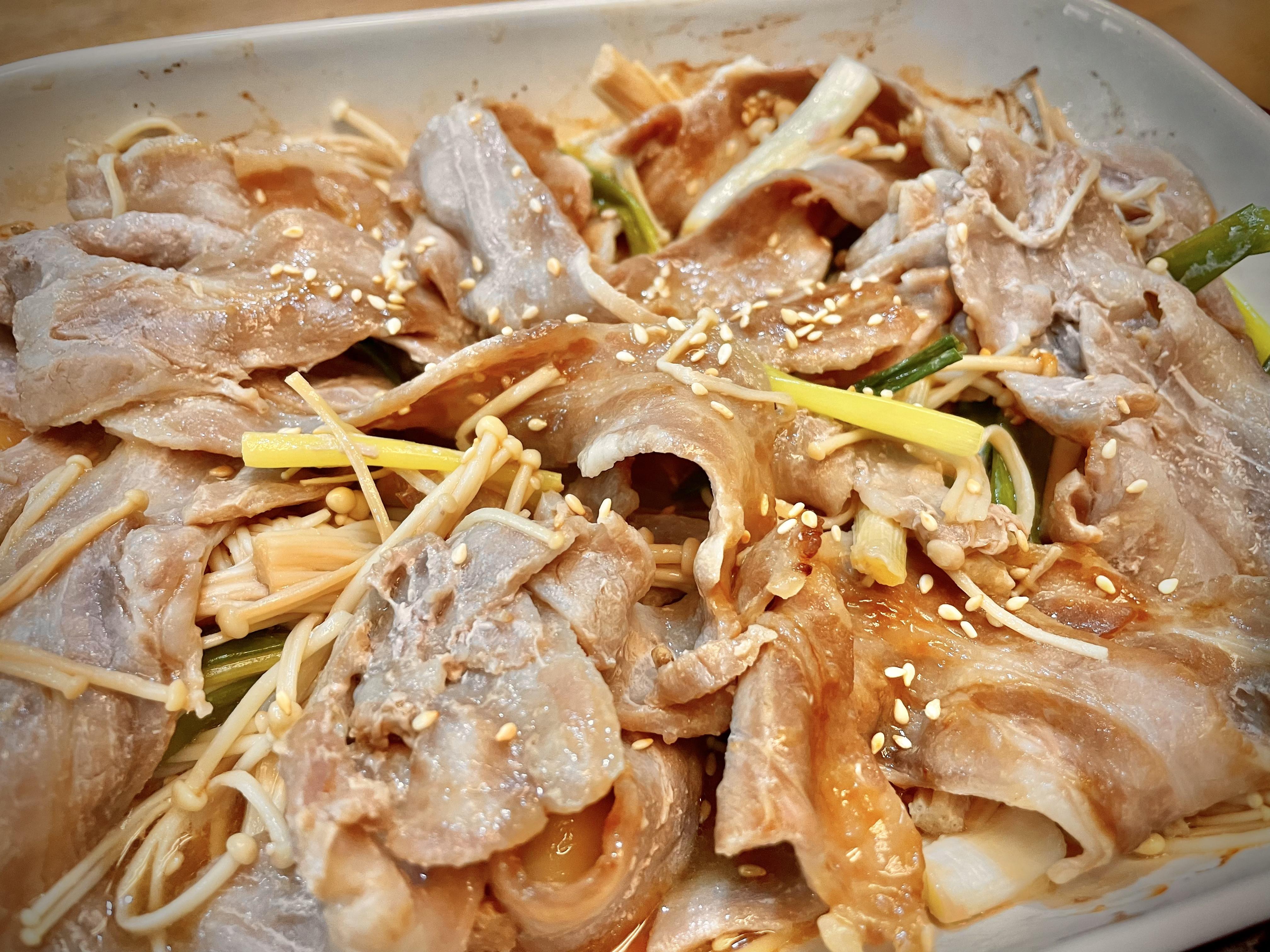 日式醬燒豬五花(懶人烤箱料理)