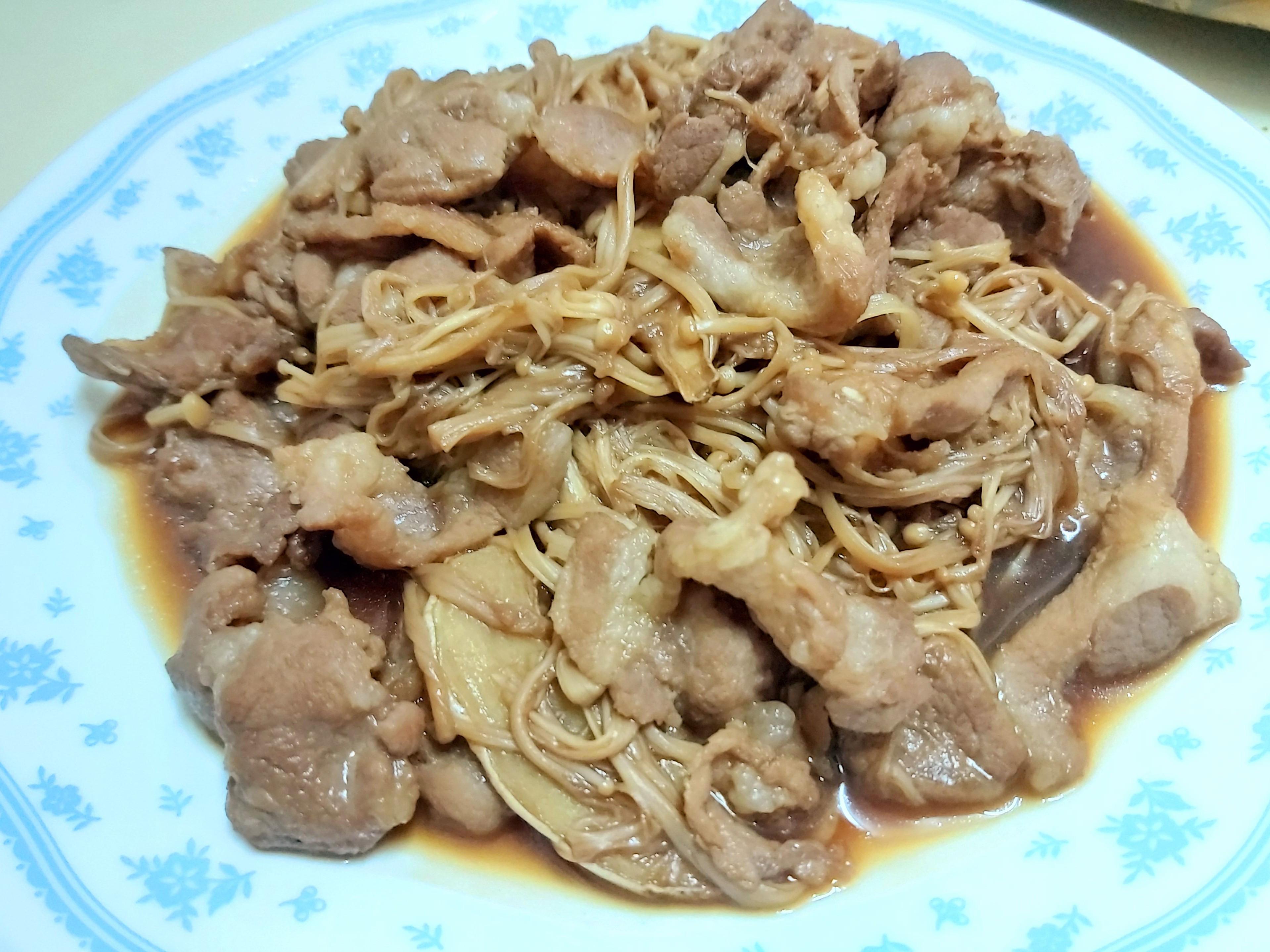 🧑🍳簡單快速料理-醬汁金針菇肉片