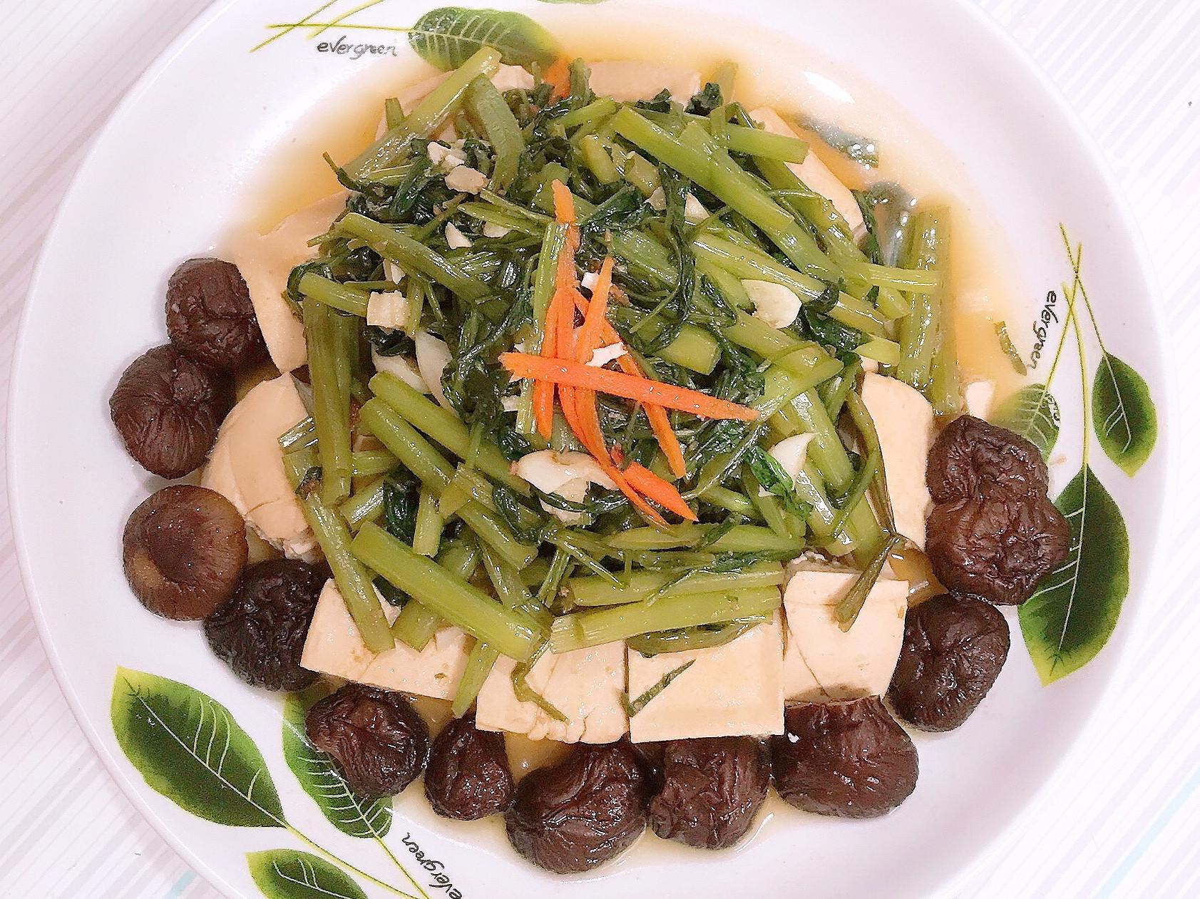 [五辛素]沙茶空心菜香菇豆腐塔