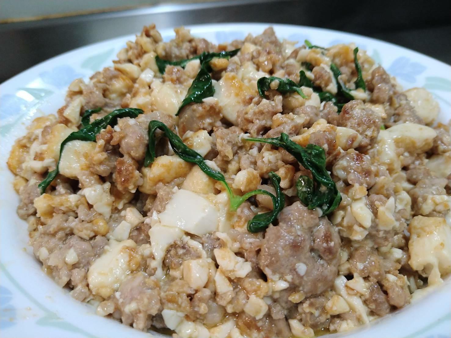金沙肉末豆腐
