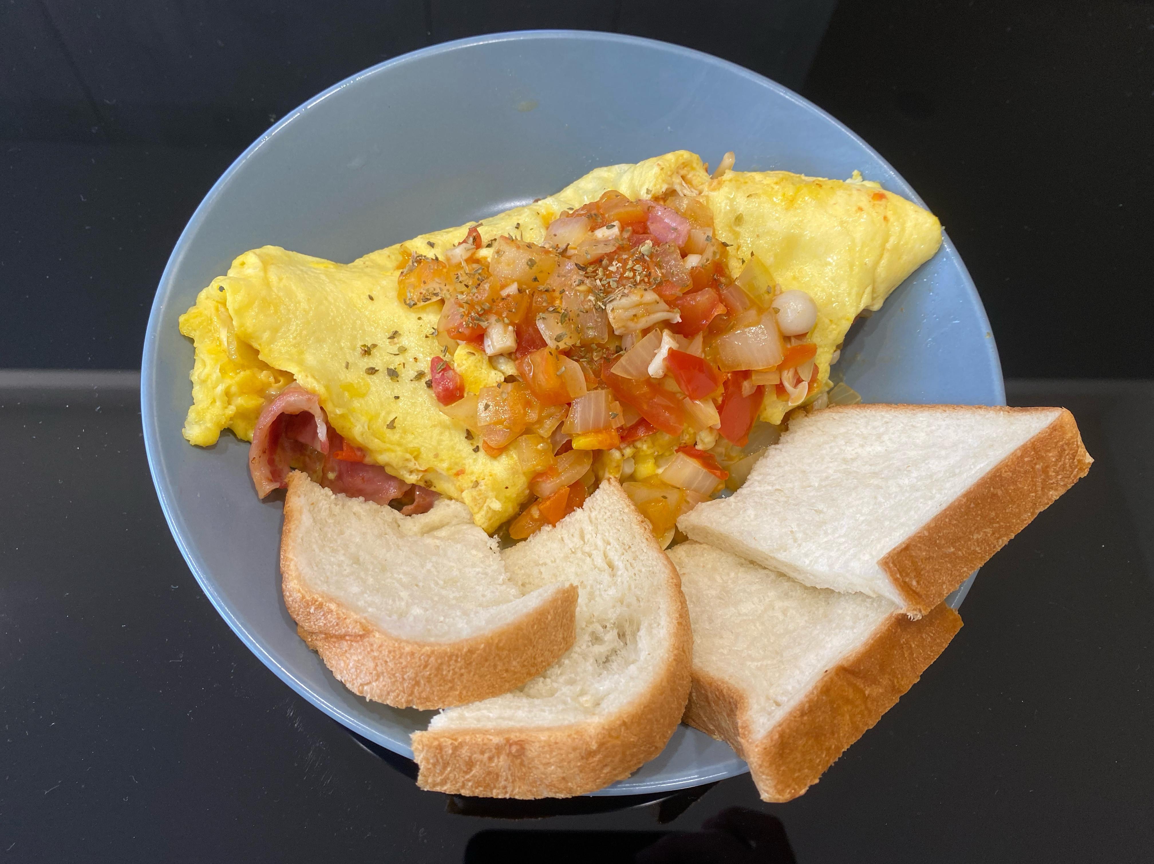 番茄蕈菇起司歐姆蛋
