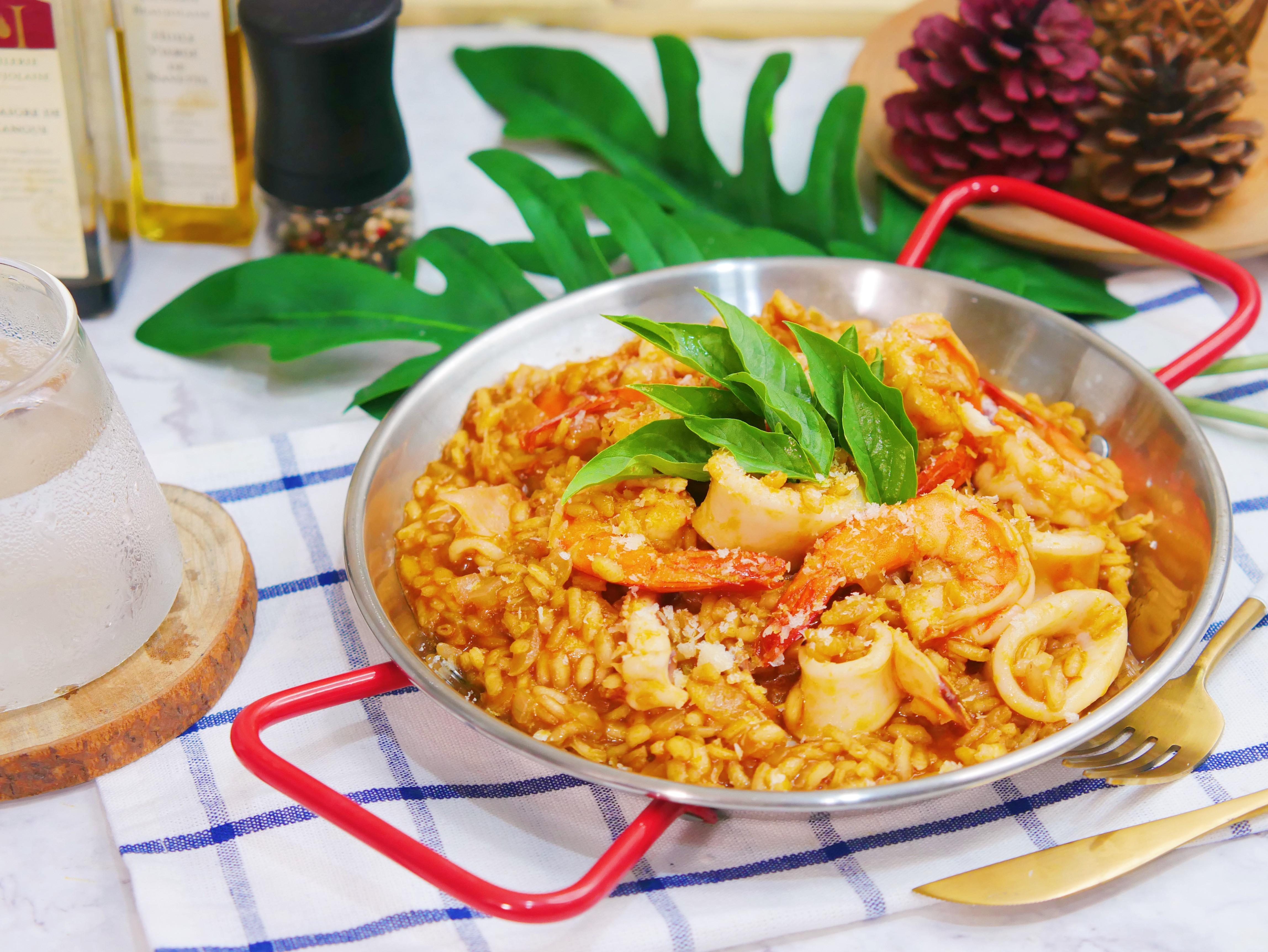 義式海鮮番茄燉飯【李錦記番茄濃湯】