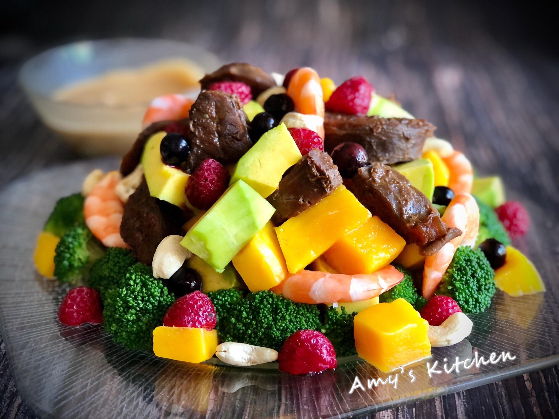 海陸莓果溫沙拉 (5分鐘料理)