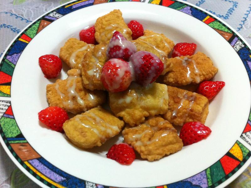 草莓就愛鷹牌煉奶~奶香年糕