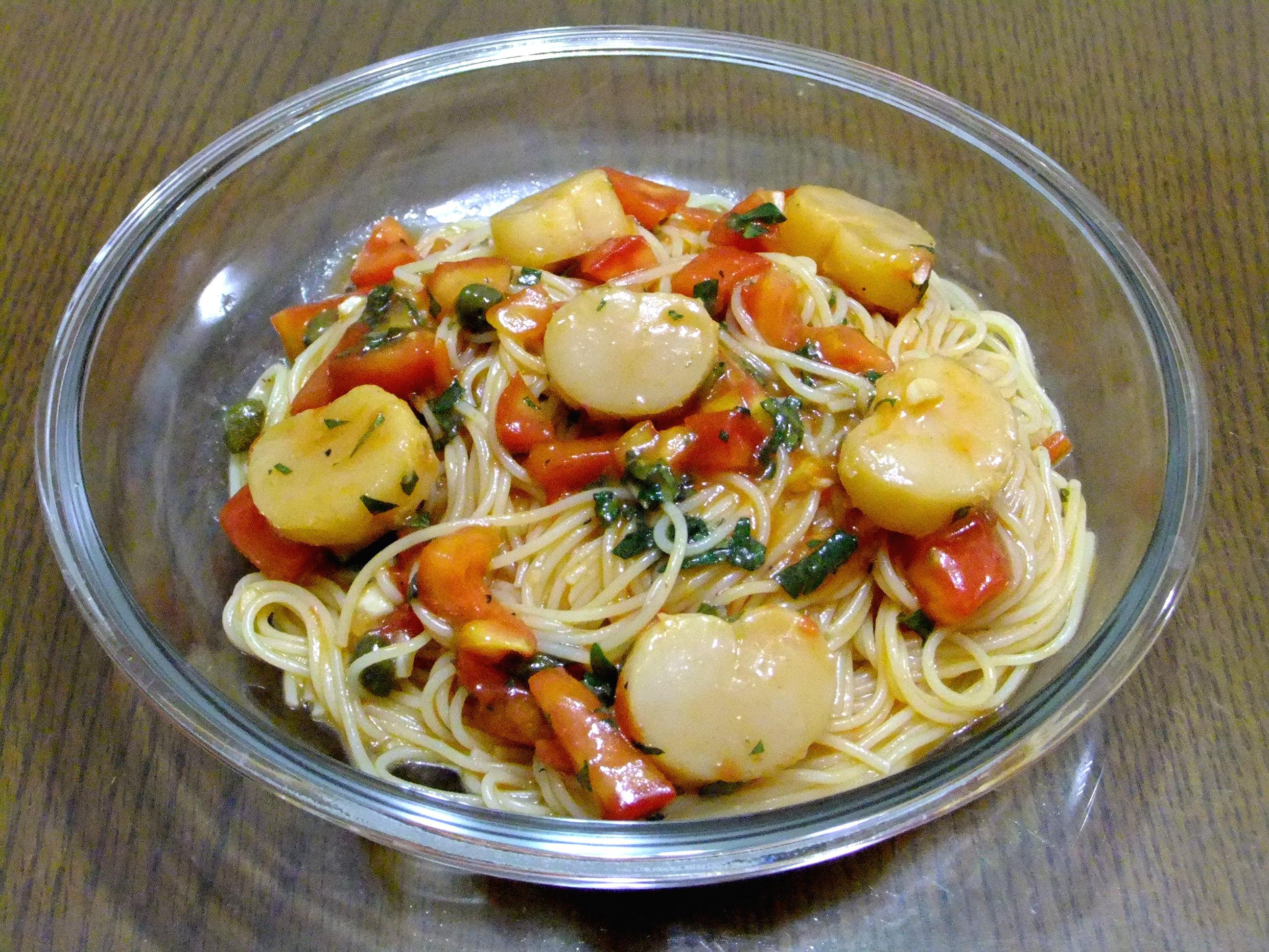 <總會有辦法的>干貝番茄紫蘇冷製義大利麵