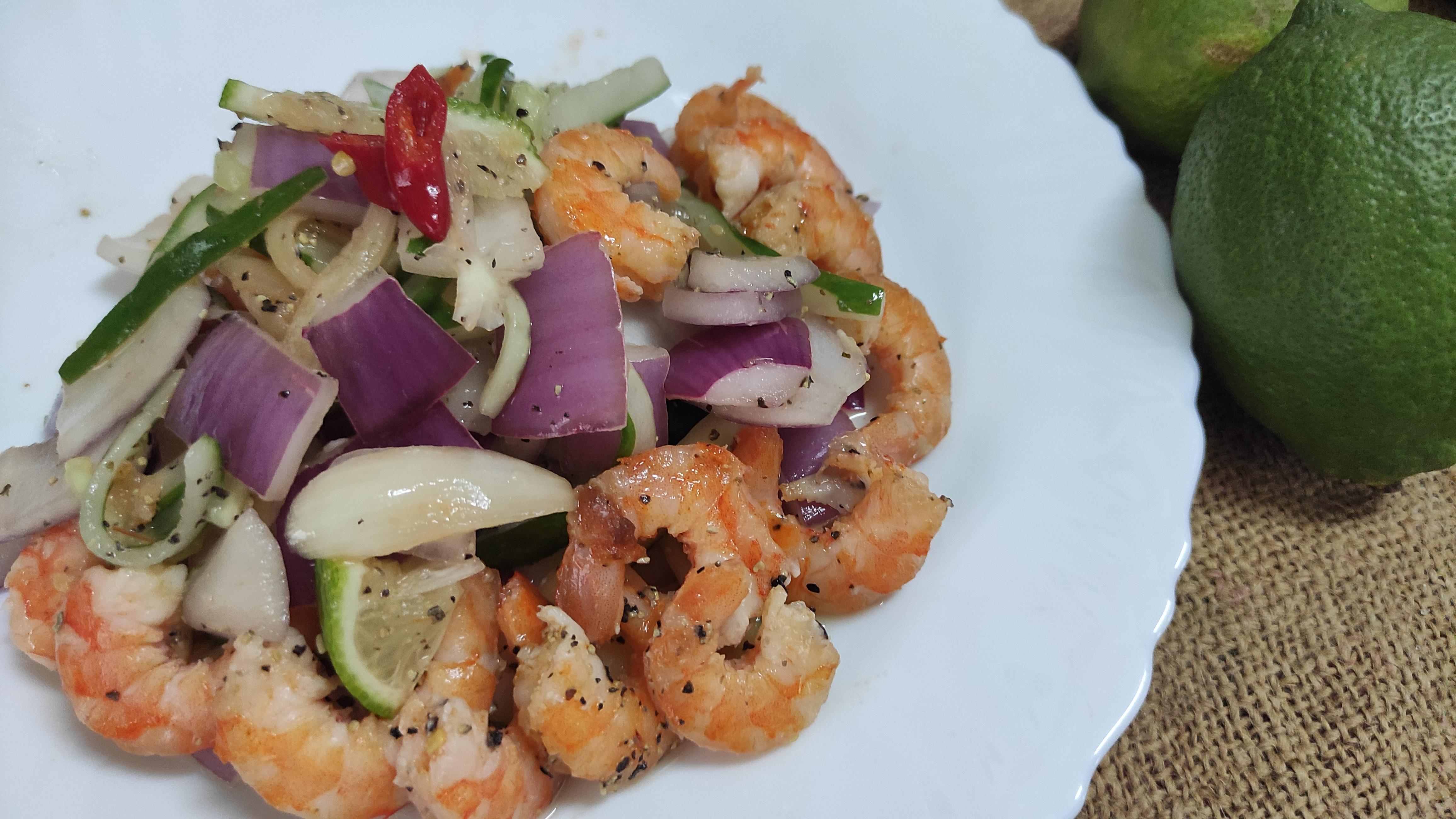 泰式酸辣鮮蝦沙拉