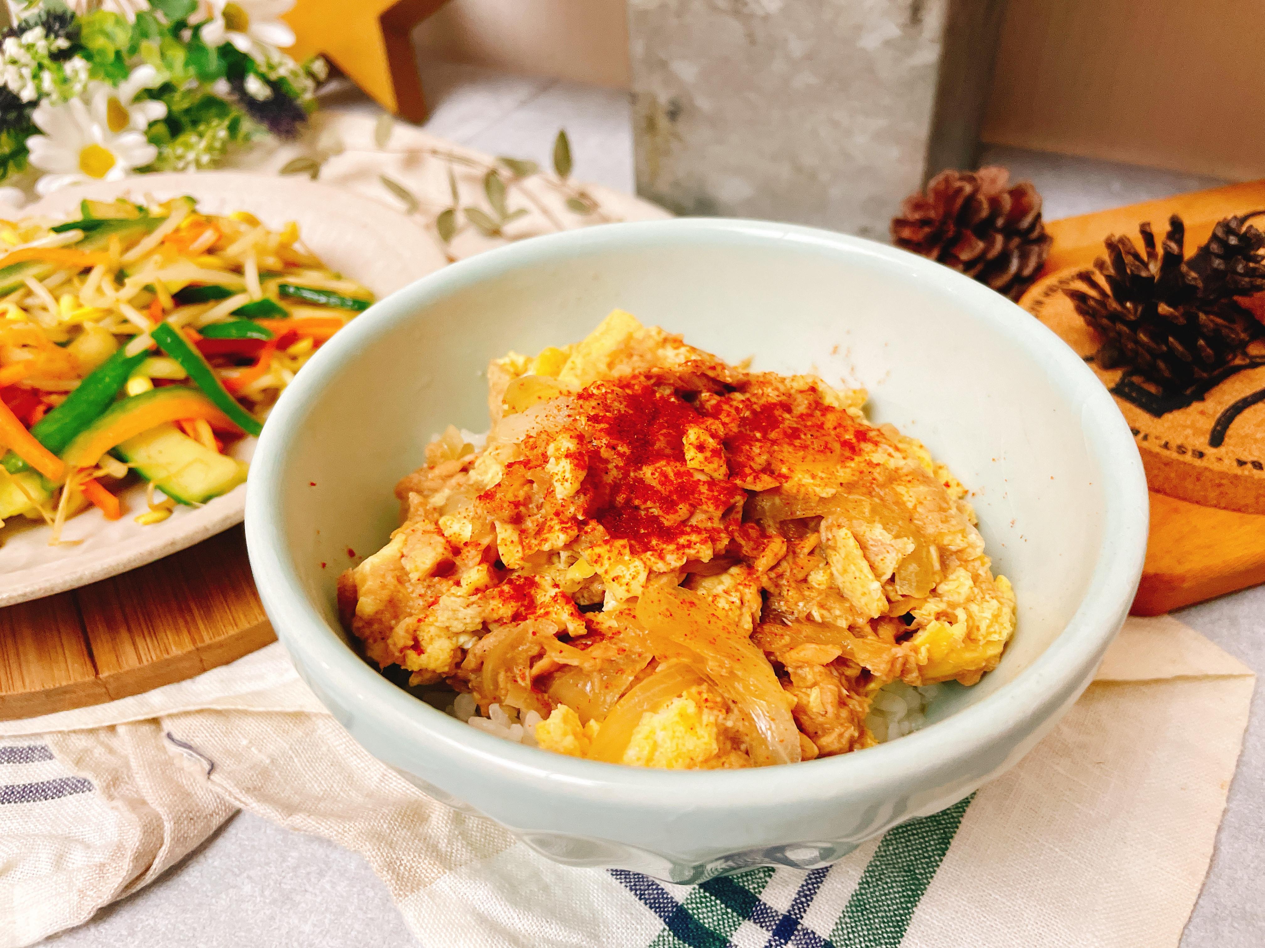 鮪魚滑蛋丼