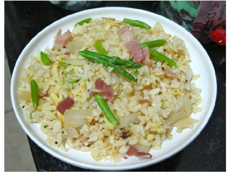 培根蘆筍蛋炒飯