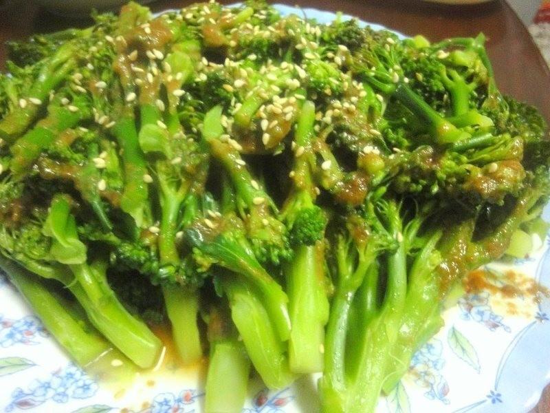 芝麻醬拌花椰菜