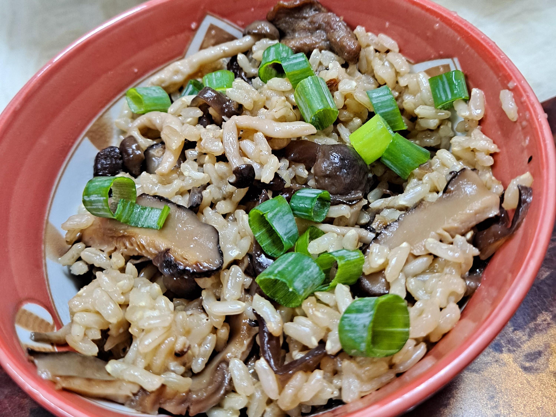 糙米菇菇飯