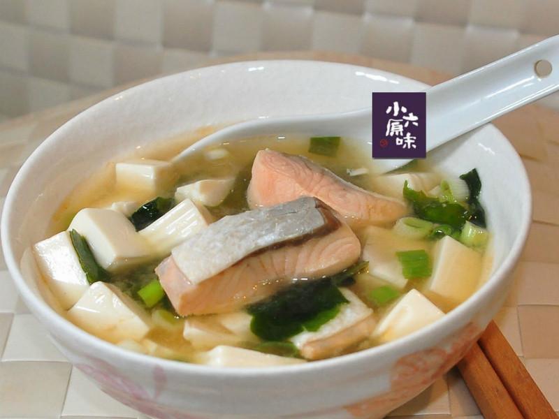 鮭魚一夜干味噌湯