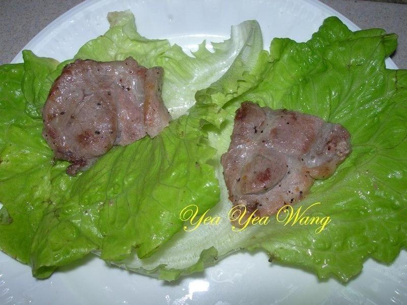 生菜梅花肉片