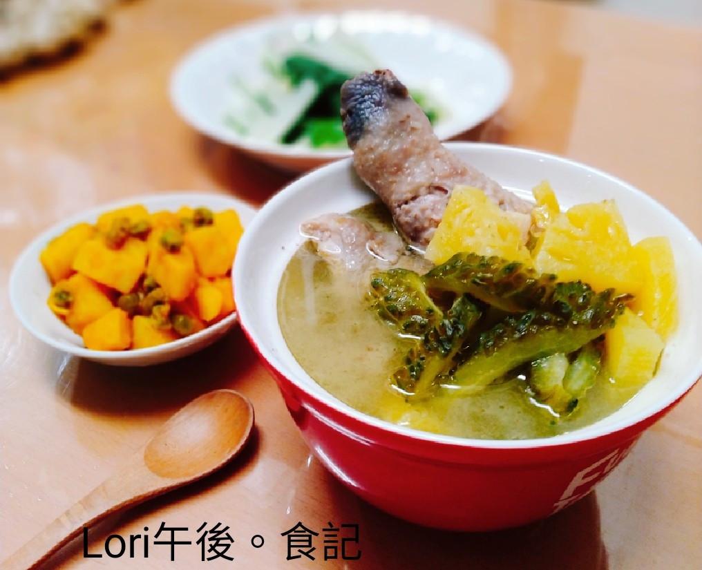 鳳梨苦瓜雞湯+茄汁馬鈴薯
