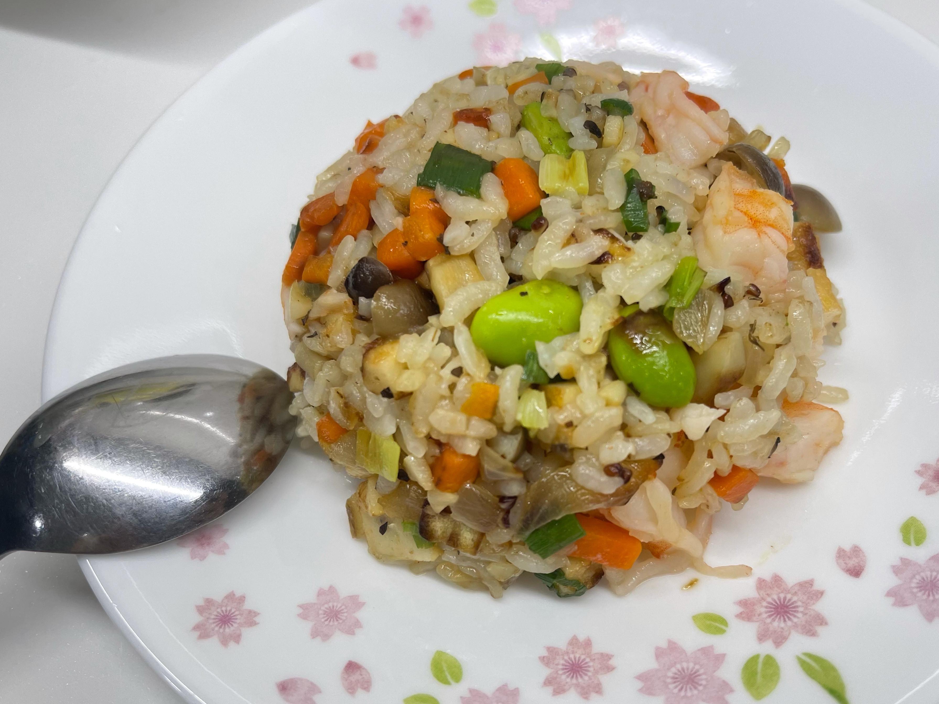 鮮蝦干貝炒飯