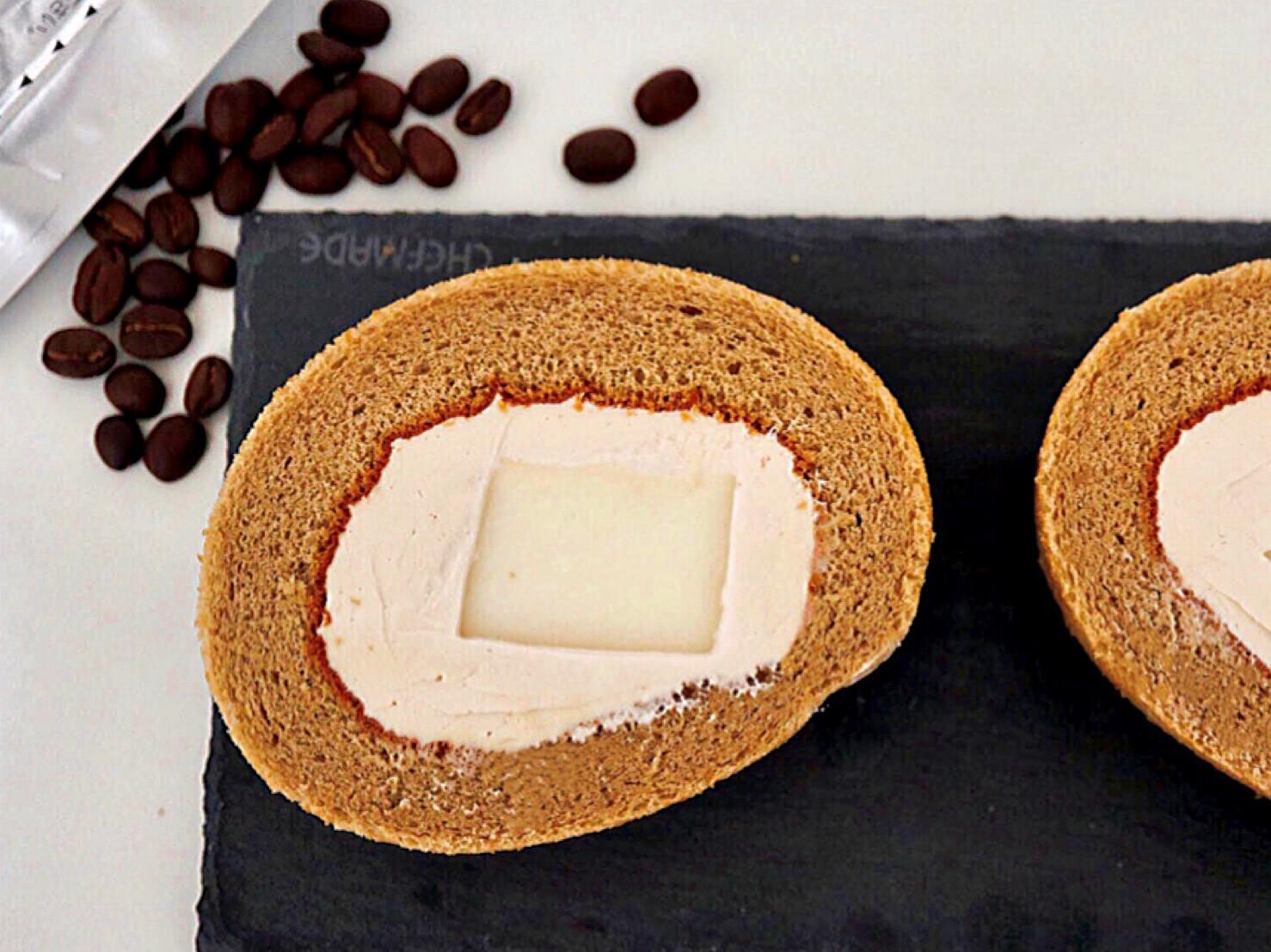 咖啡奶凍蛋糕卷☕口感豐富 奶凍超香滑♪