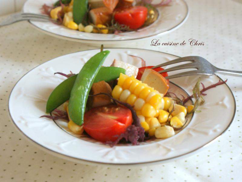 [蔬料] 豆干沙拉佐和風醬