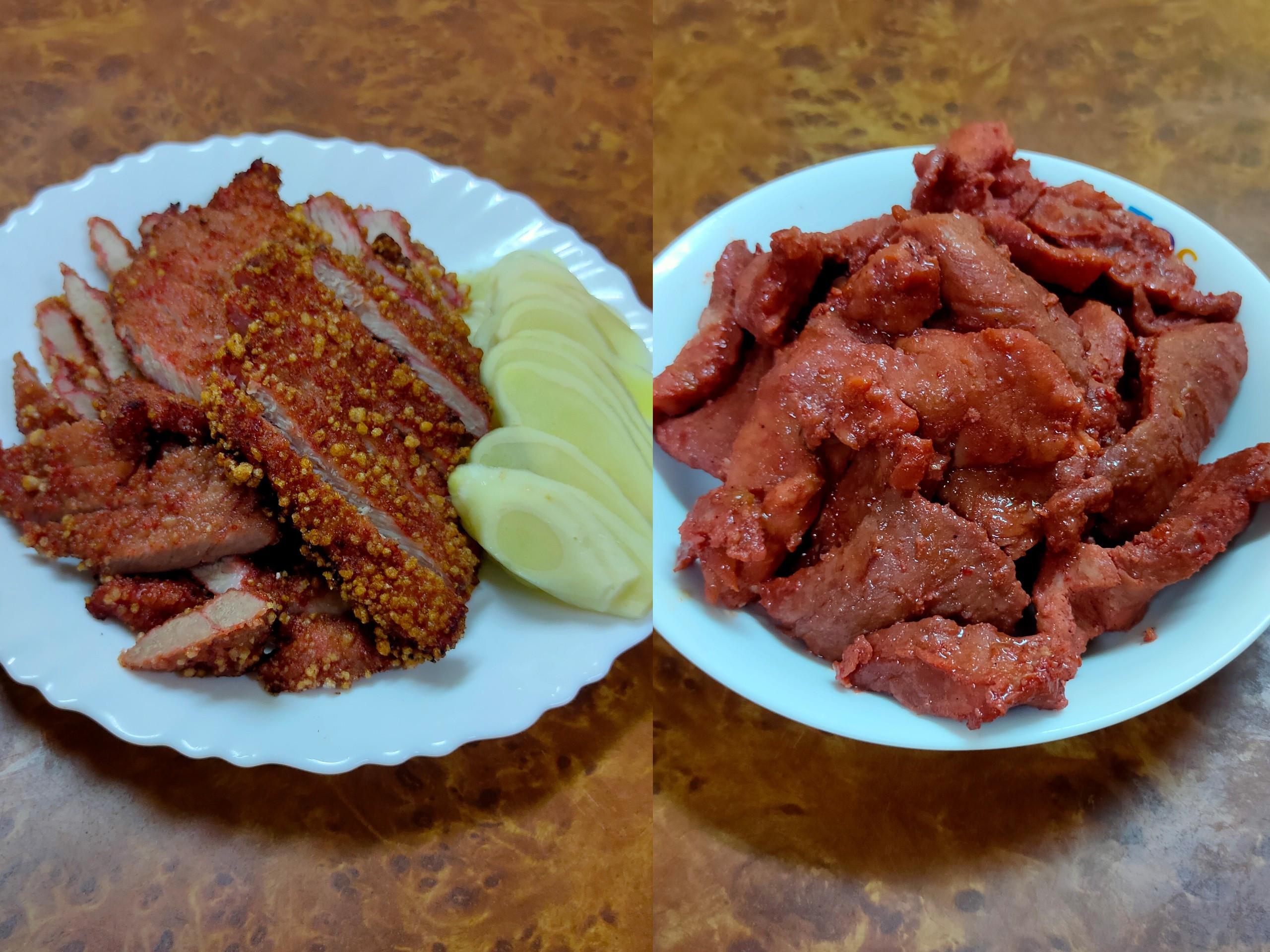 紅糟肉(蒸的或炸的都好吃)