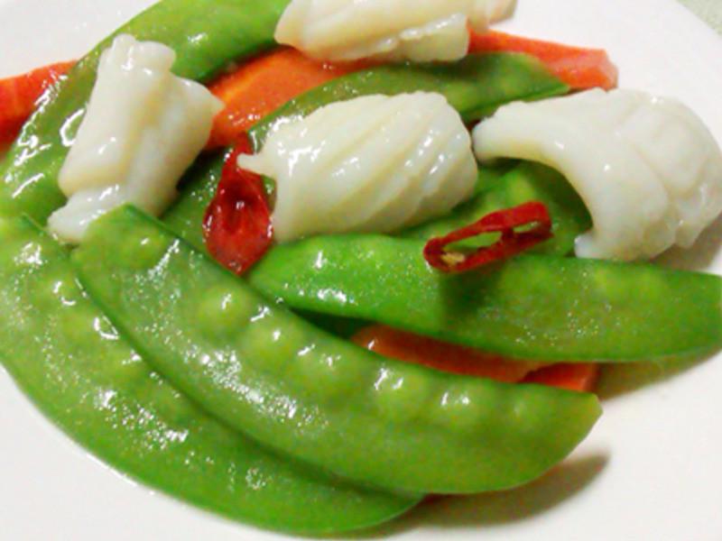 【厚生廚房】豌豆莢燴花枝