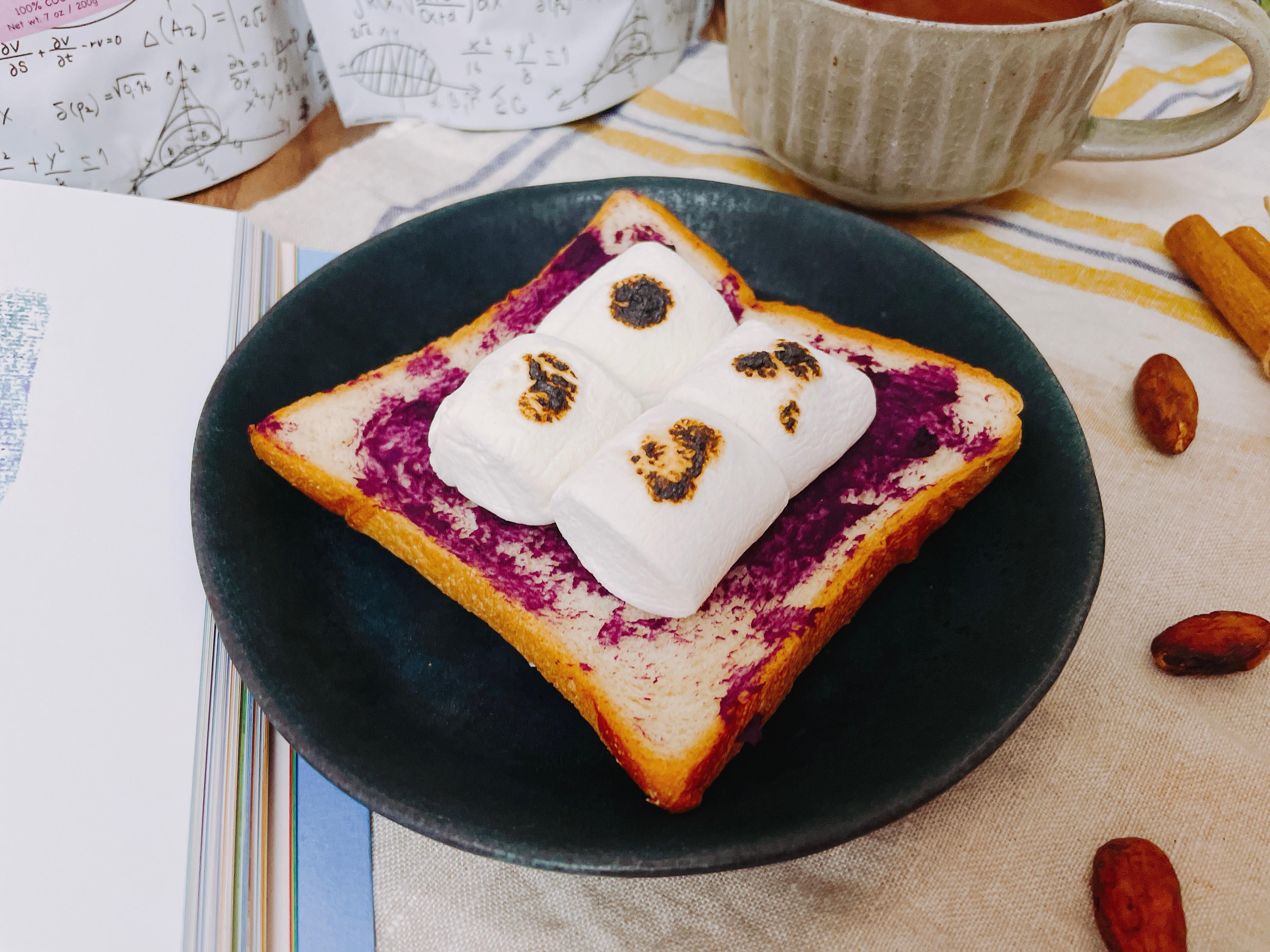 紫心地瓜烤棉花糖吐司
