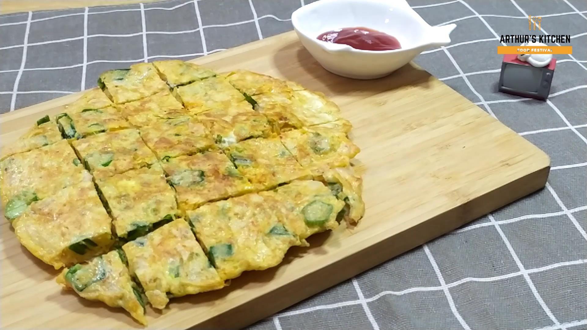 十分鐘早餐食譜~秋葵歐姆蛋