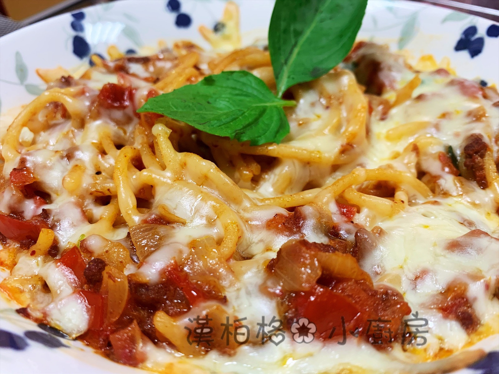 焗烤蕃茄肉醬義大利麵(免烤箱)