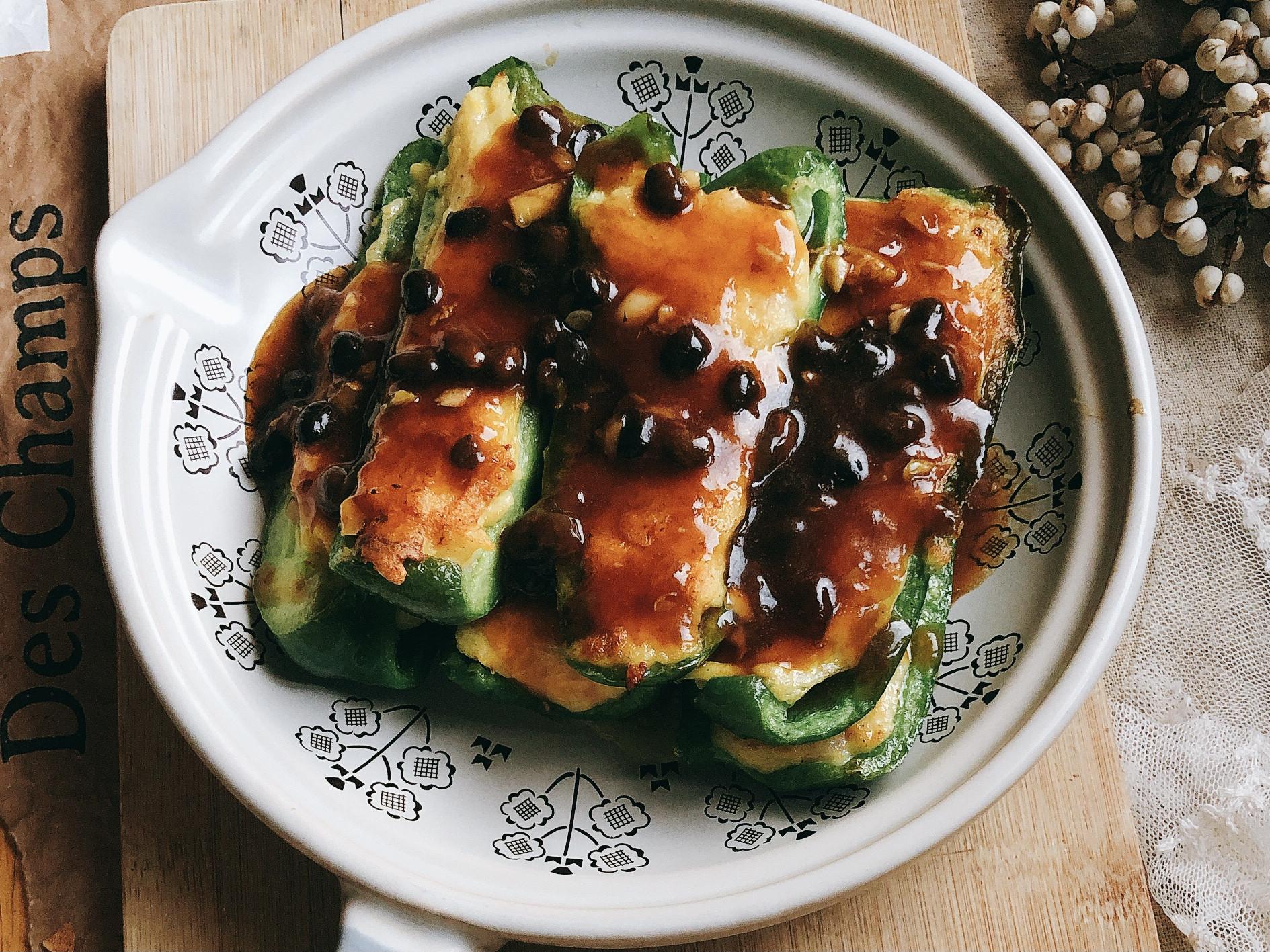 「簡單健康蝦滑版」豆豉青椒釀肉