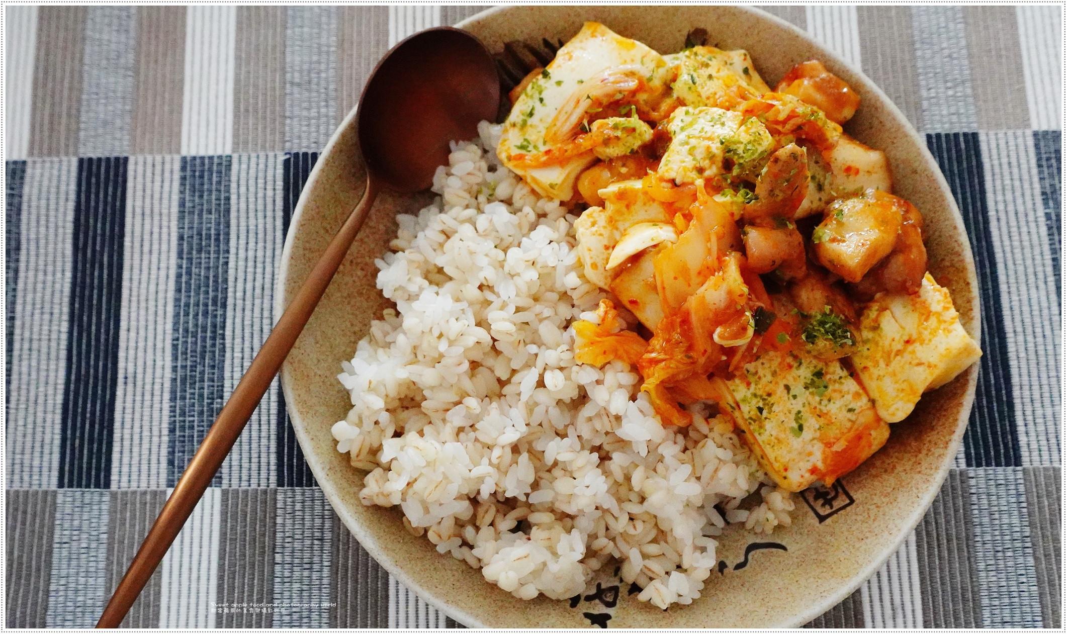 【影片篇】雞肉泡菜豆腐飯(一人前)